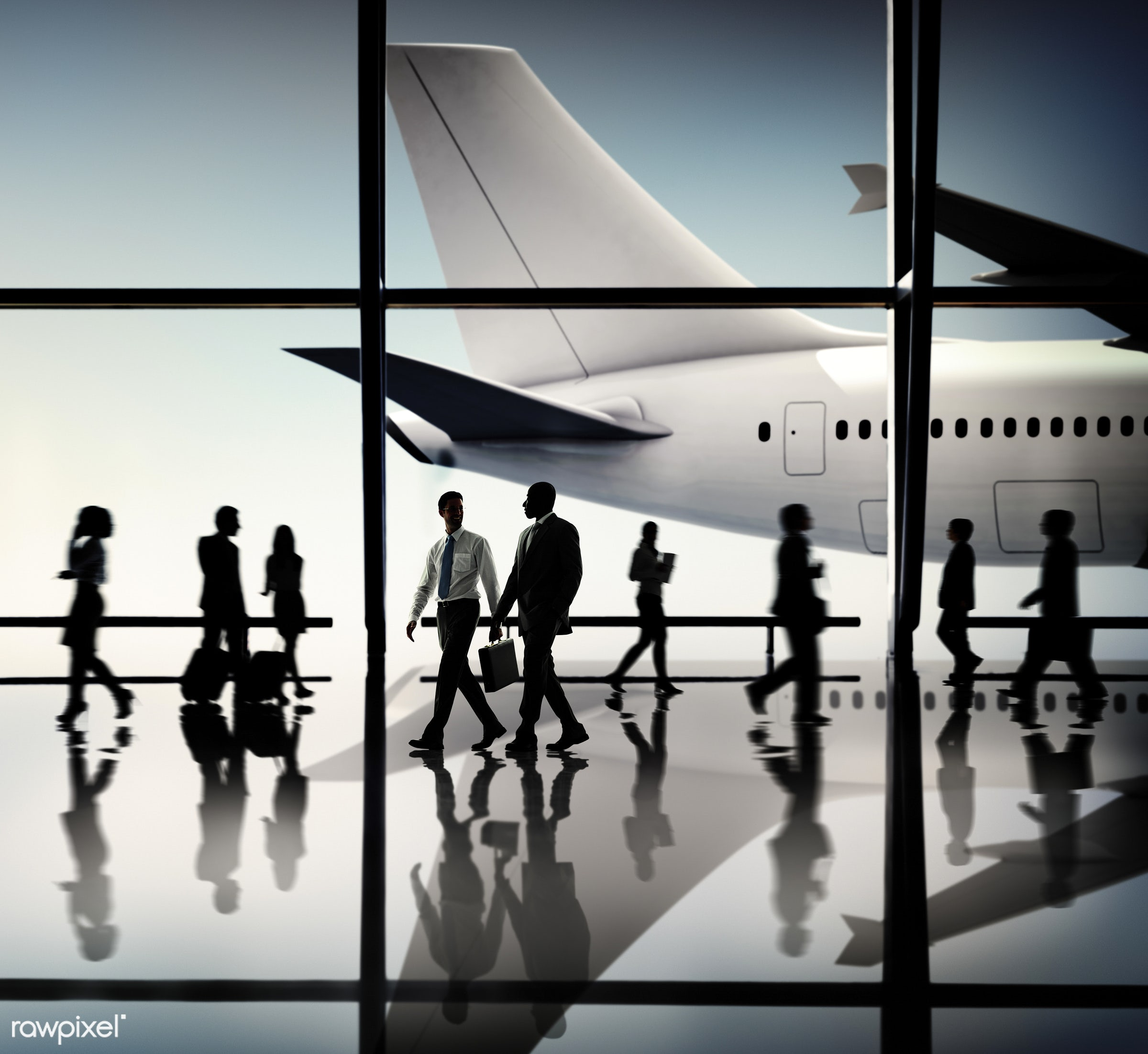 african, african descent, aircraft, airplane, airport, asian, asian ethnicity, business people, business travel, businessmen...