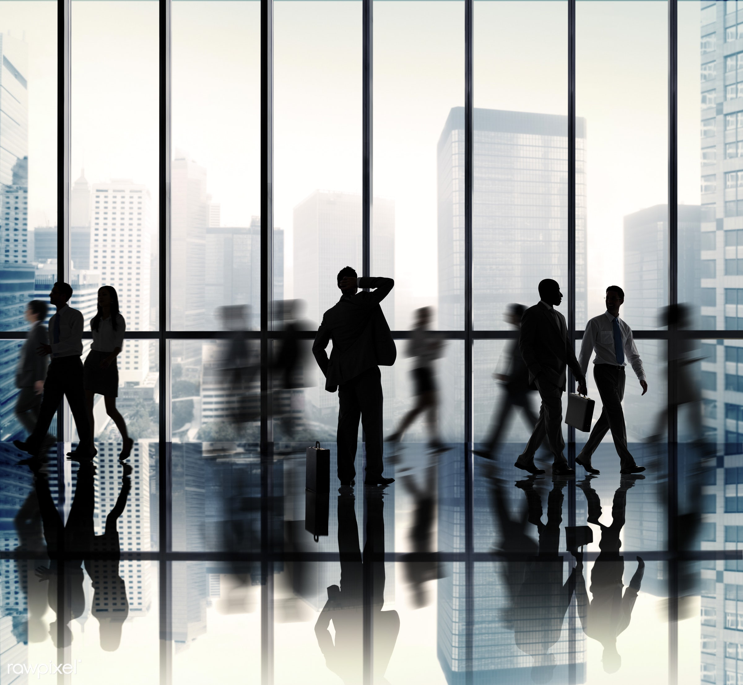 backlit, blurred motion, buildings, business, business people, businessmen, businesswomen, city, city scape, colleagues,...