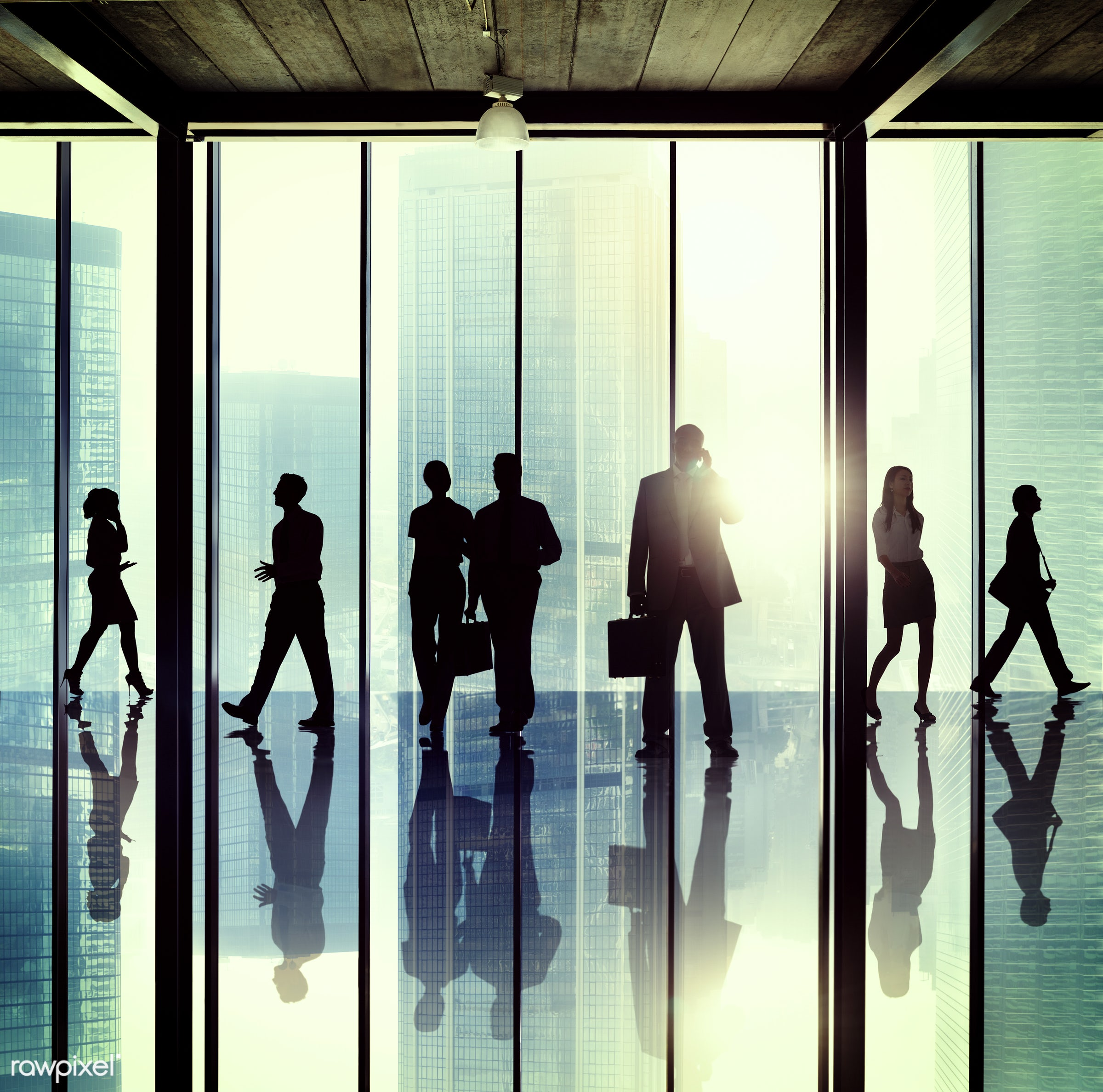 backlit, buildings, business, business people, businessmen, businesswomen, calling, city, colleagues, communication,...