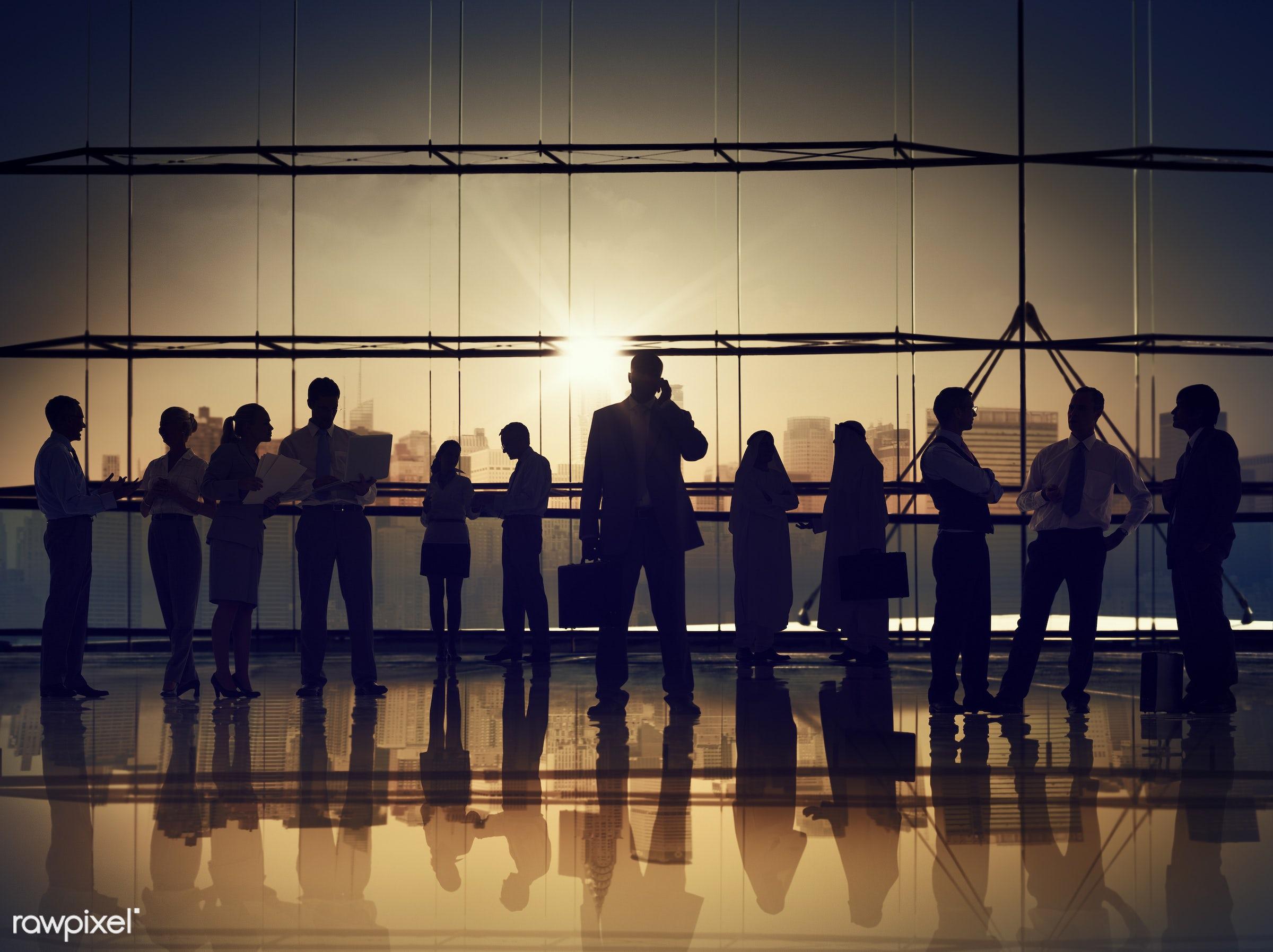 back lit, brainstorming, building, business, business people, businessmen, businesswomen, calling, city, cityscape,...