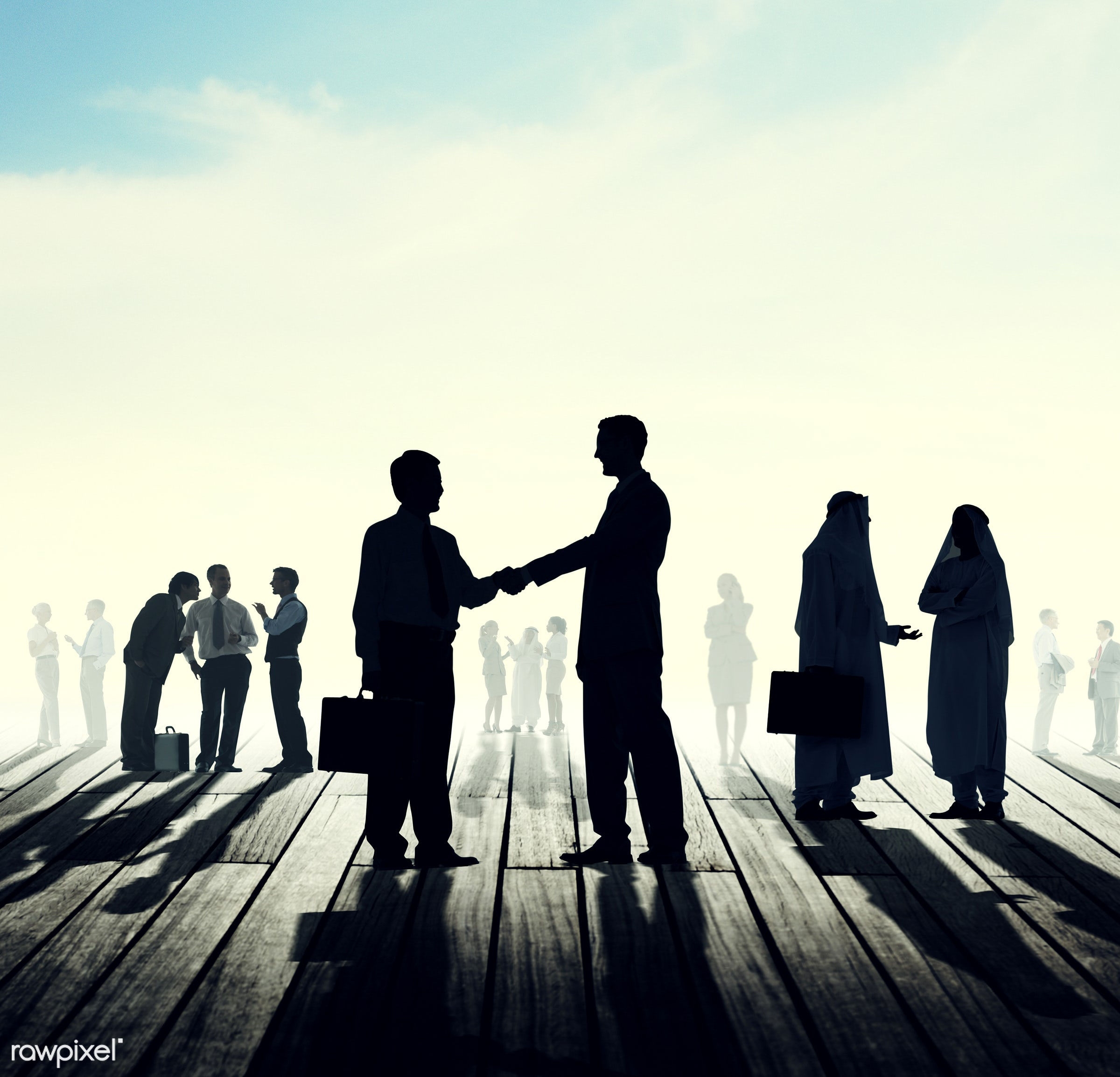 agreement, back lit, brainstorming, business, business people, businessmen, businesswomen, cloud, cloudscape, colleagues,...