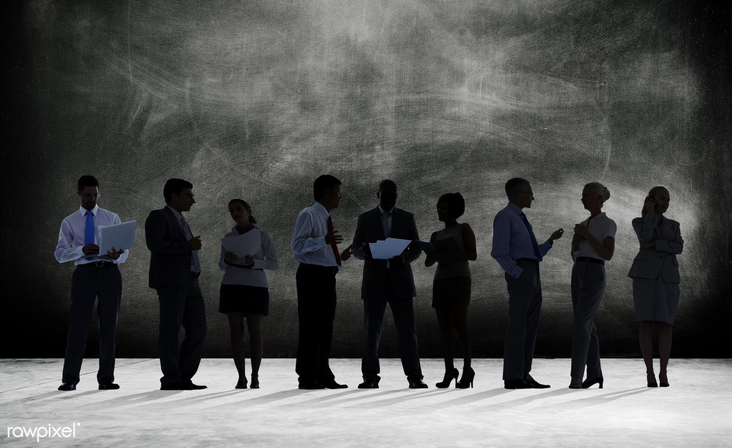blackboard, blank, business, business people, businessmen, businesswomen, colleagues, communication, connection,...