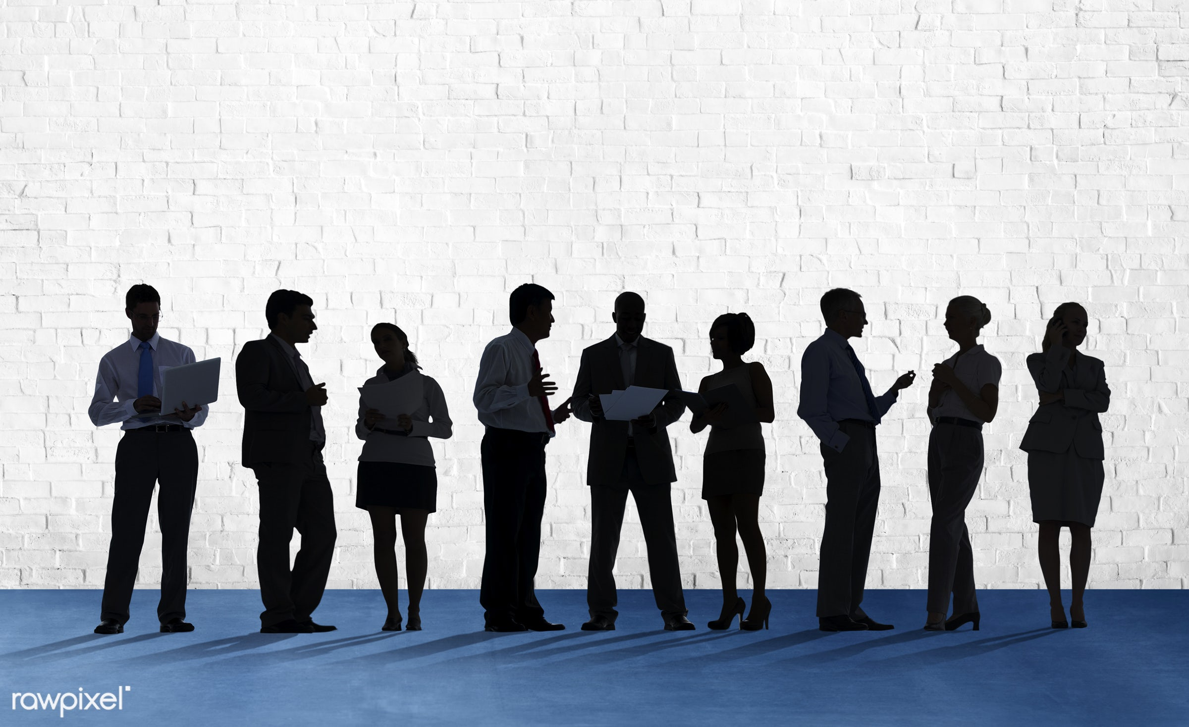 blank, brick, brick wall, business, business people, businessmen, businesswomen, colleagues, communication, connection,...