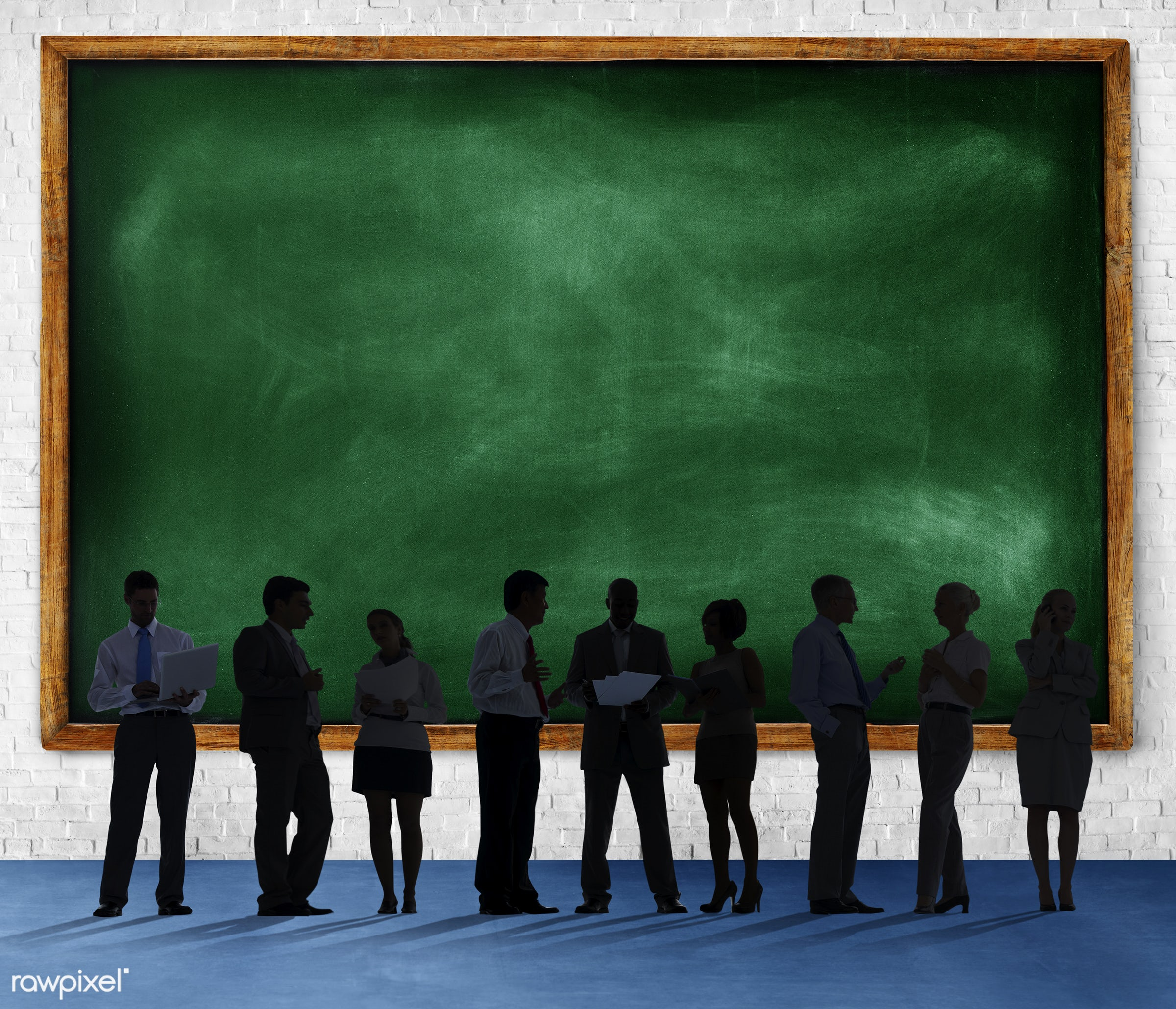 blackboard, blank, brick, brick wall, business, business people, businessmen, businesswomen, colleagues, communication,...