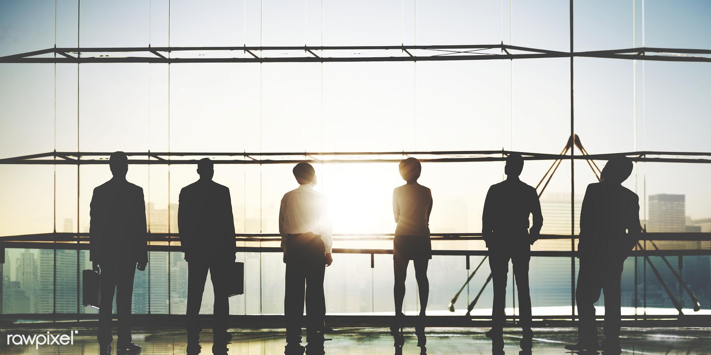 achievement, aim, architecture, aspiration, back lit, building, business, business people, businessmen, businesswomen, city...