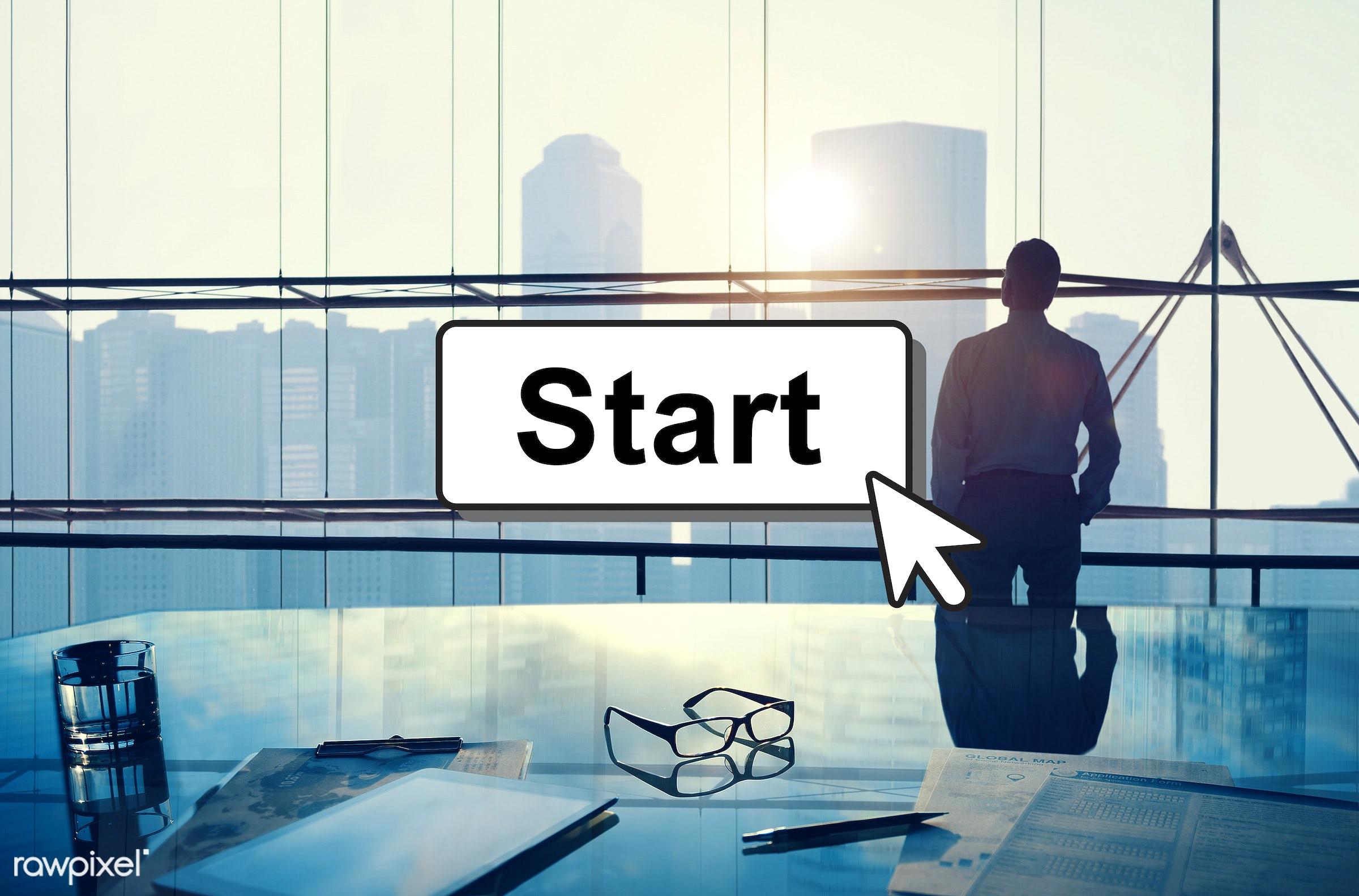 activation, alone, aspiration, back lit, begin, beginning, build, buildings, business, businessman, city, contemplation,...