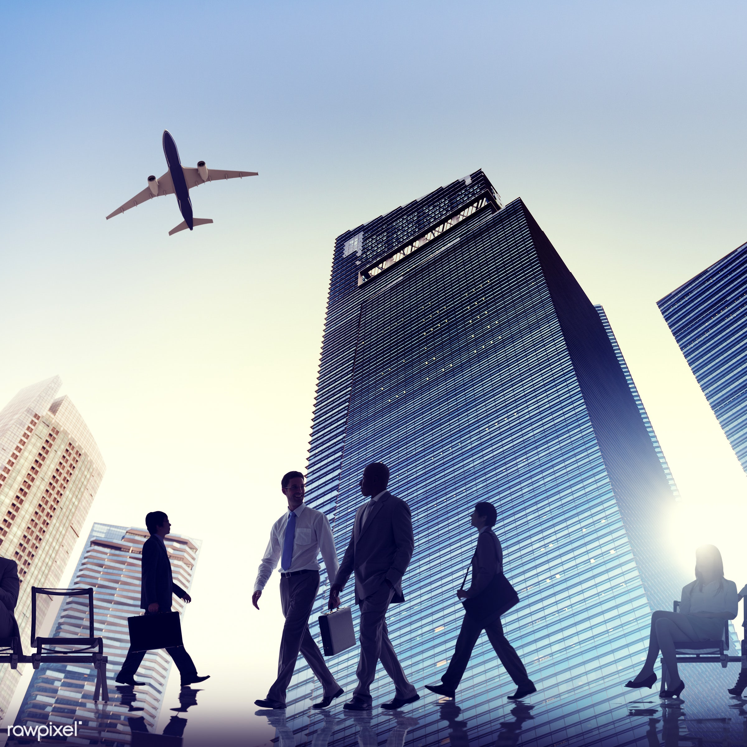 3d, airline, airplane, airport, back lit, brainstorming, building, business, business people, business person, business...
