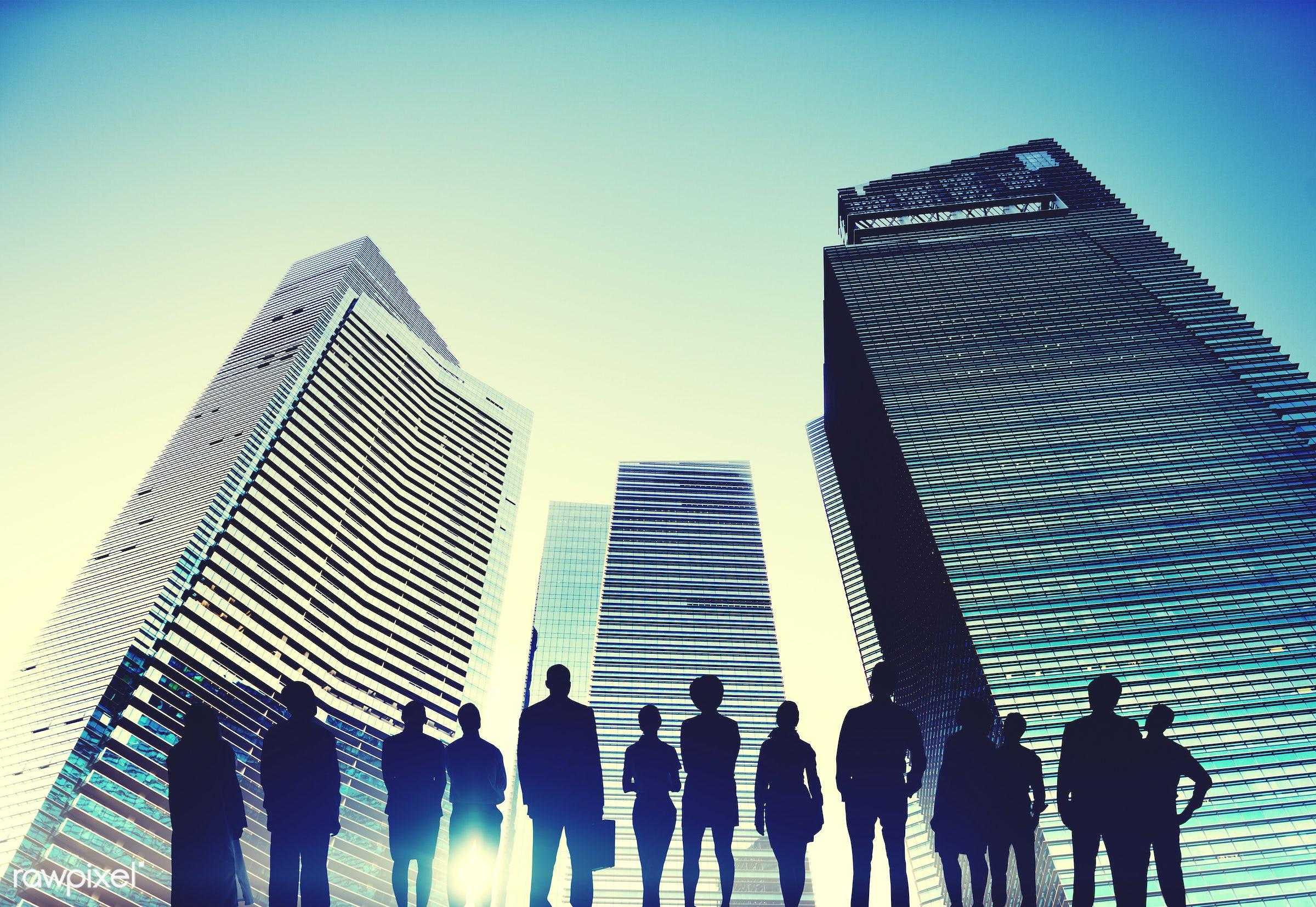 achievement, aspiration, back lit, building, business, business people, businessmen, businesswomen, city, city life,...