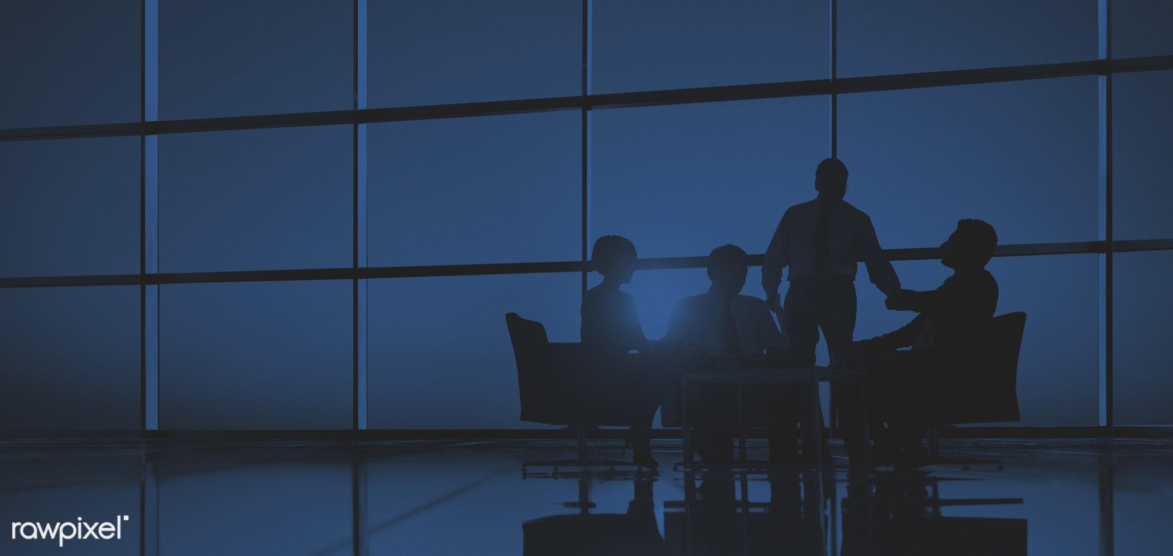 advise, back lit, blue, brainstorming, business, business people, businessmen, businesswomen, colleagues, communication,...