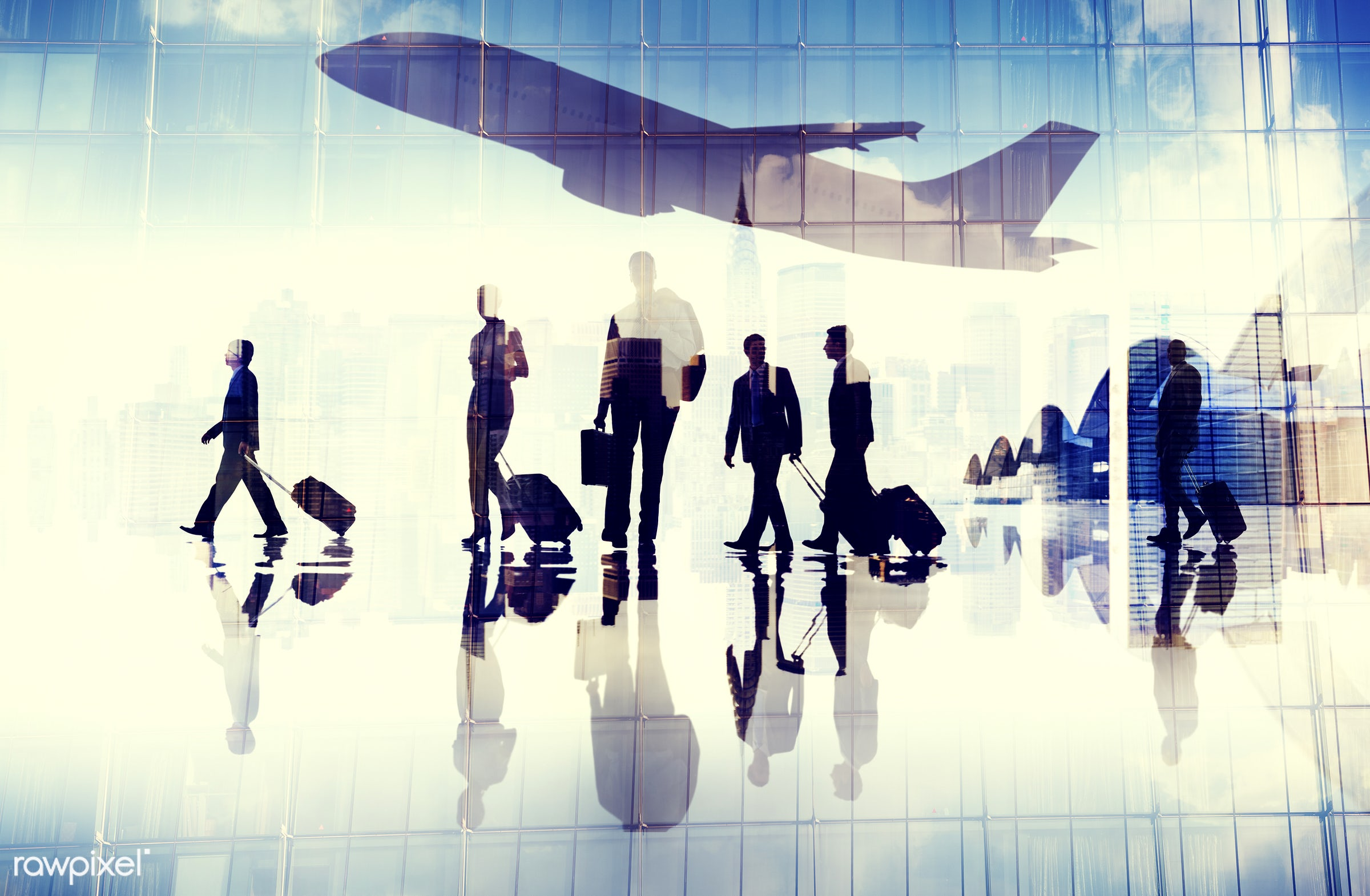 aircraft, airplane, airport, business, business people, business travel, businessmen, businesswomen, cloudscape,...