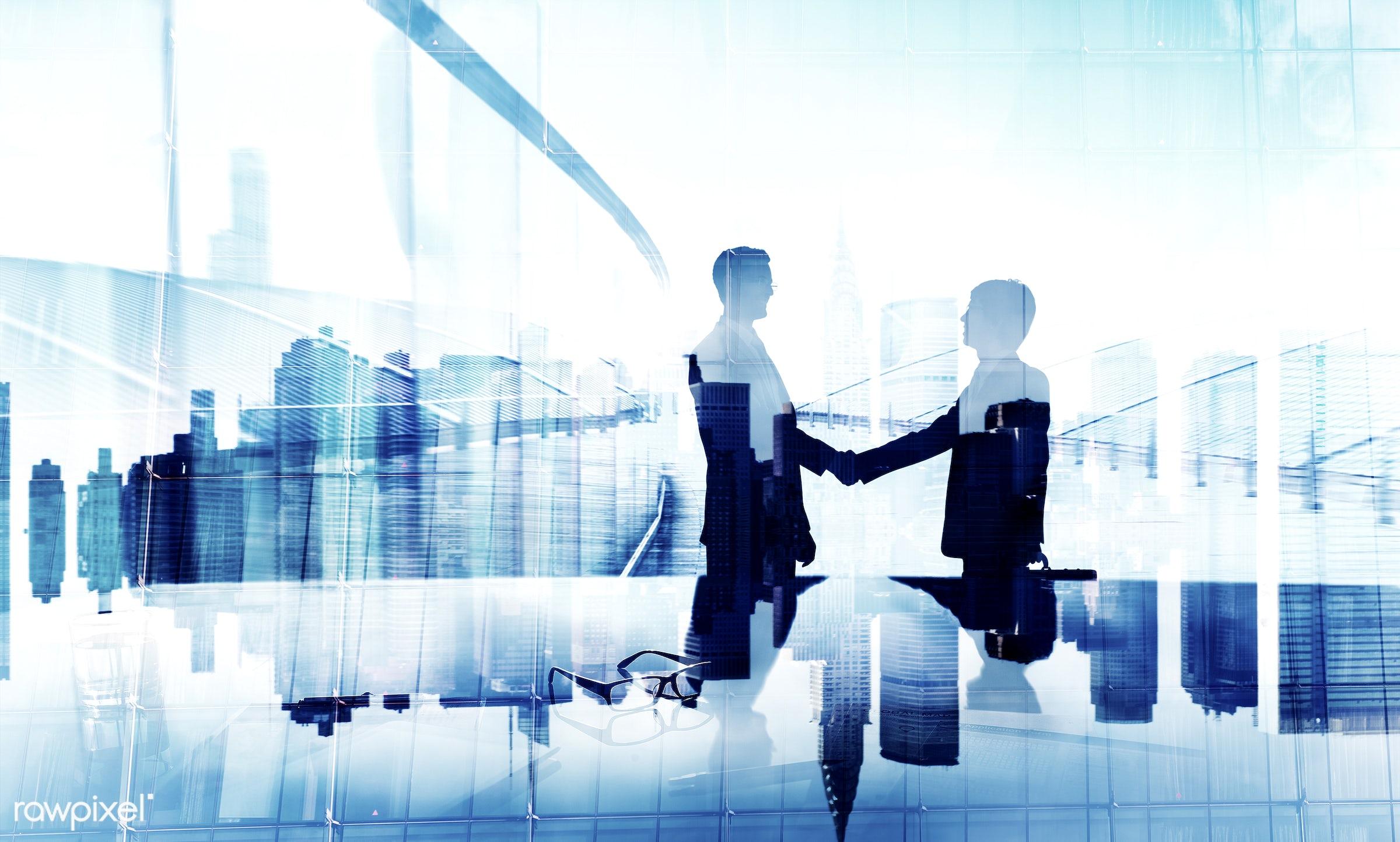 agreement, back lit, business, business people, businessmen, colleague, communication, connection, conversation, corporate,...