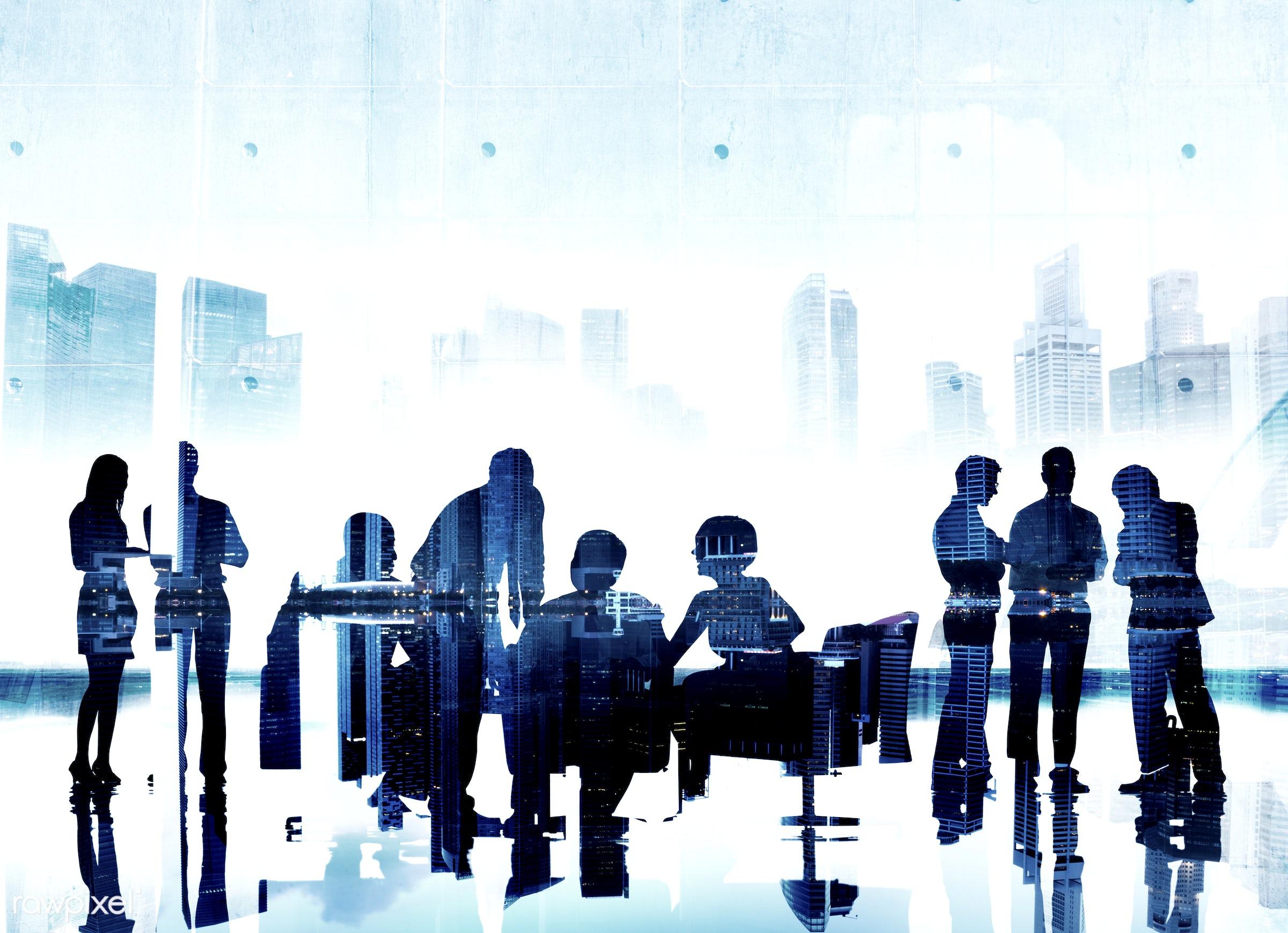backlit, business, business people, businessmen, businesswomen, cityscape, colleagues, communication, concepts, connection,...