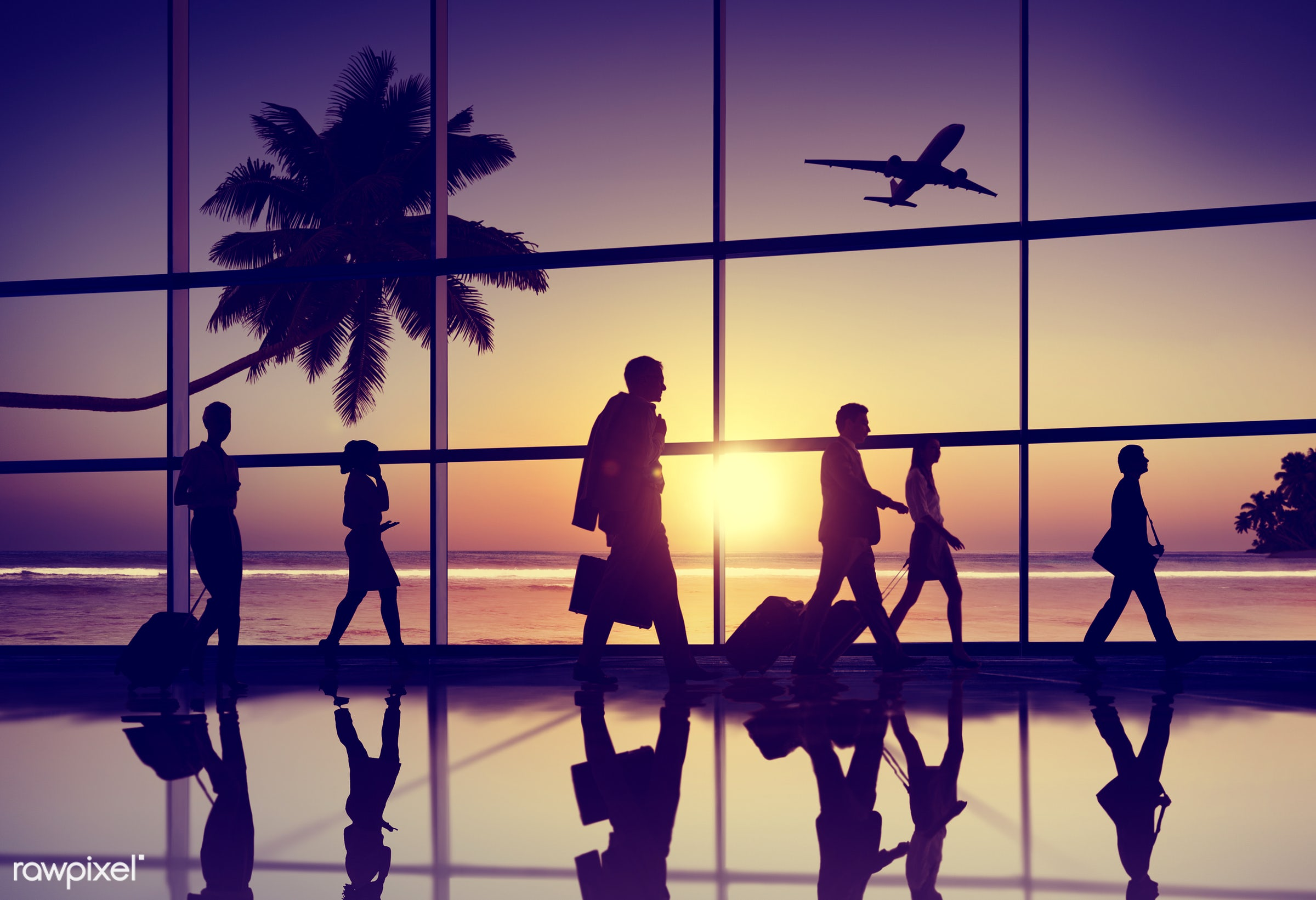airline, airplane, airport, back lit, business people, business travel, businessmen, businesswomen, cloud, cloudscape,...
