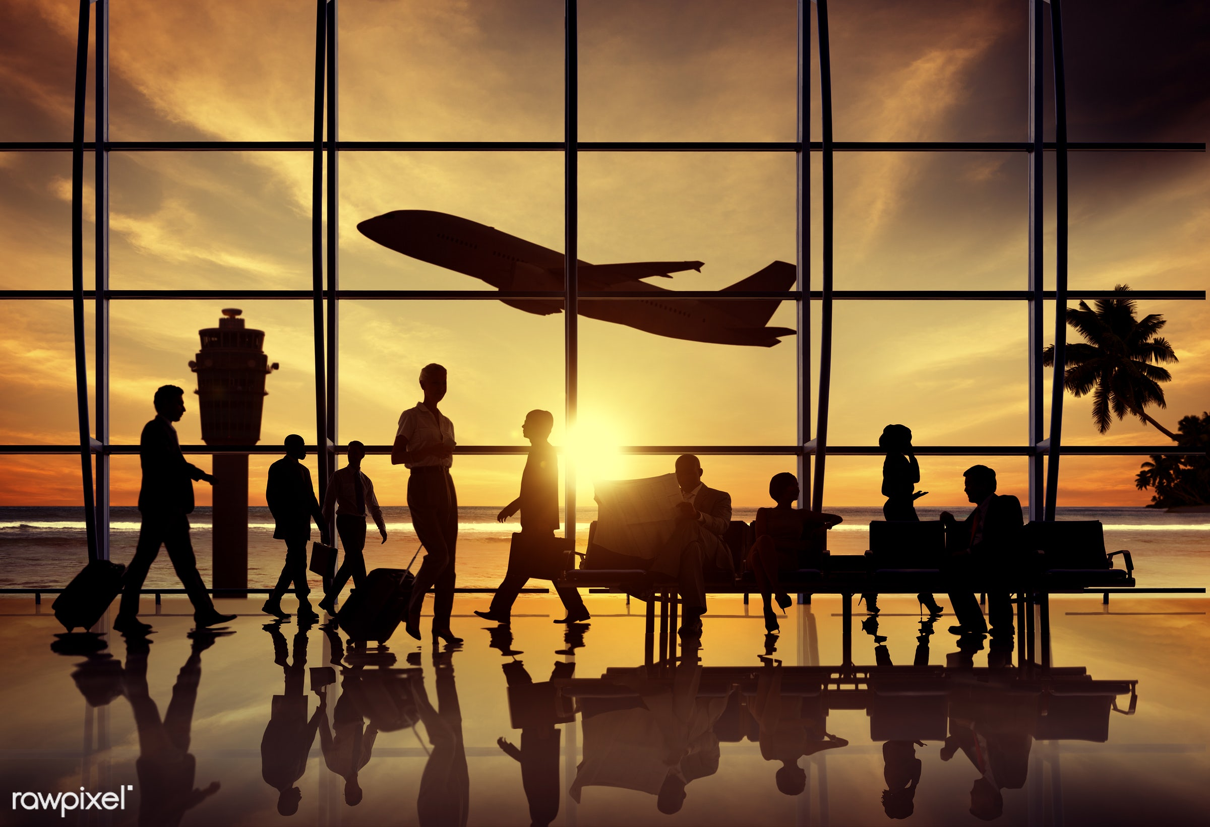airplane, airport, back lit, beach, business, business people, business travel, businessmen, businesswomen, colleague,...