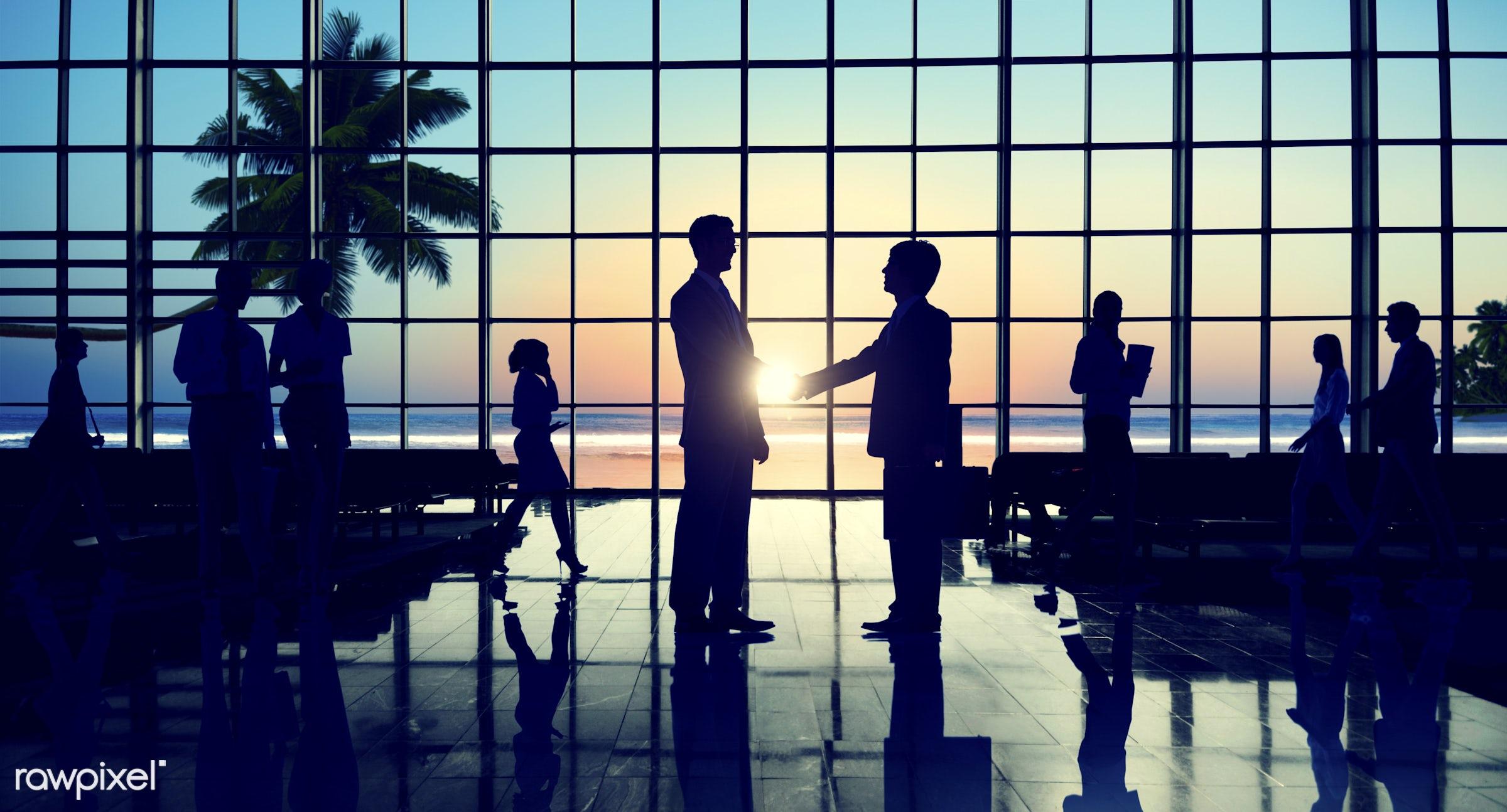 agreement, back lit, beach, business, business people, businessmen, businesswomen, collaboration, colleague, communication,...