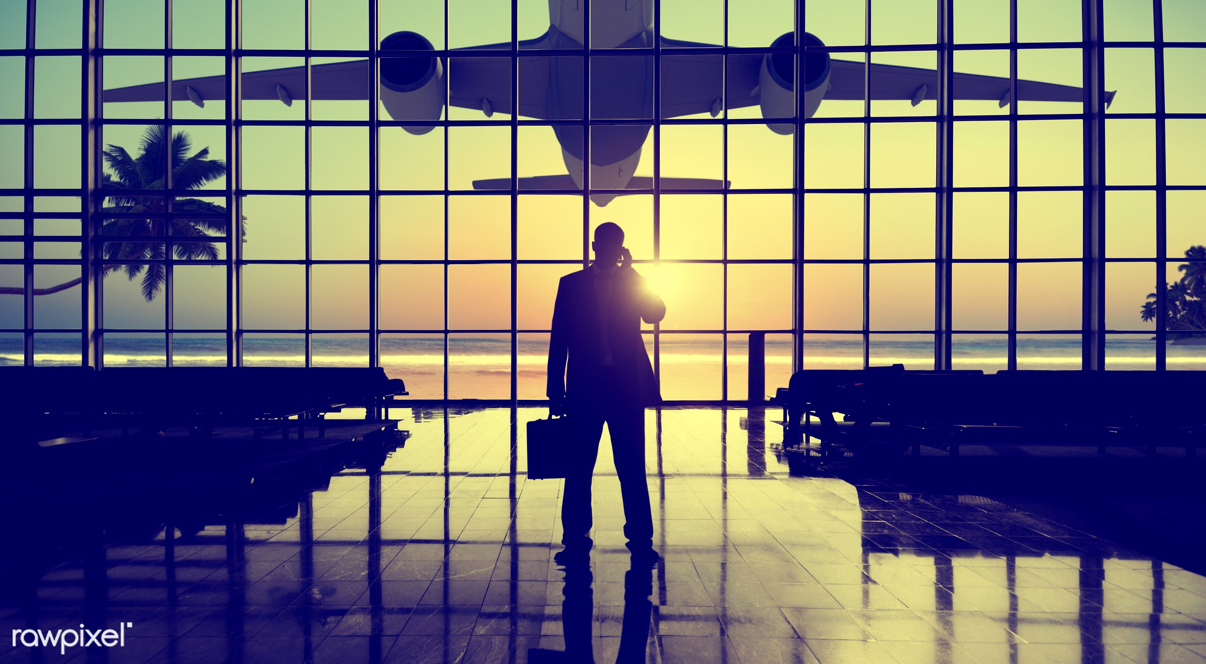 contemporary, airplane, airport, airport lounge, alone, architecture, backlit, boarding gate, briefcase, built structure,...