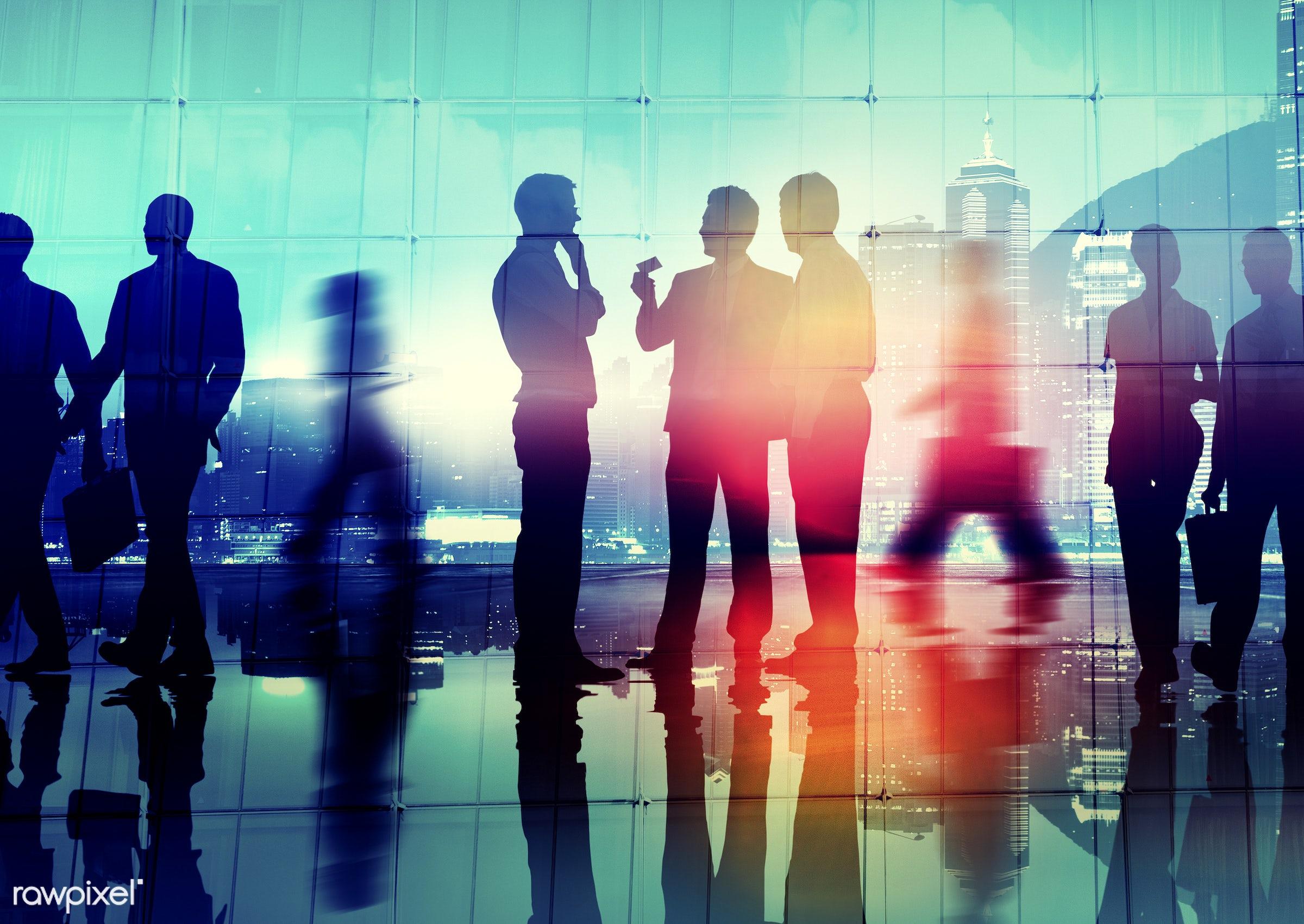 back lit, brainstorming, building, business, business people, businessmen, businesswomen, busy, city, cityscape, colleague,...