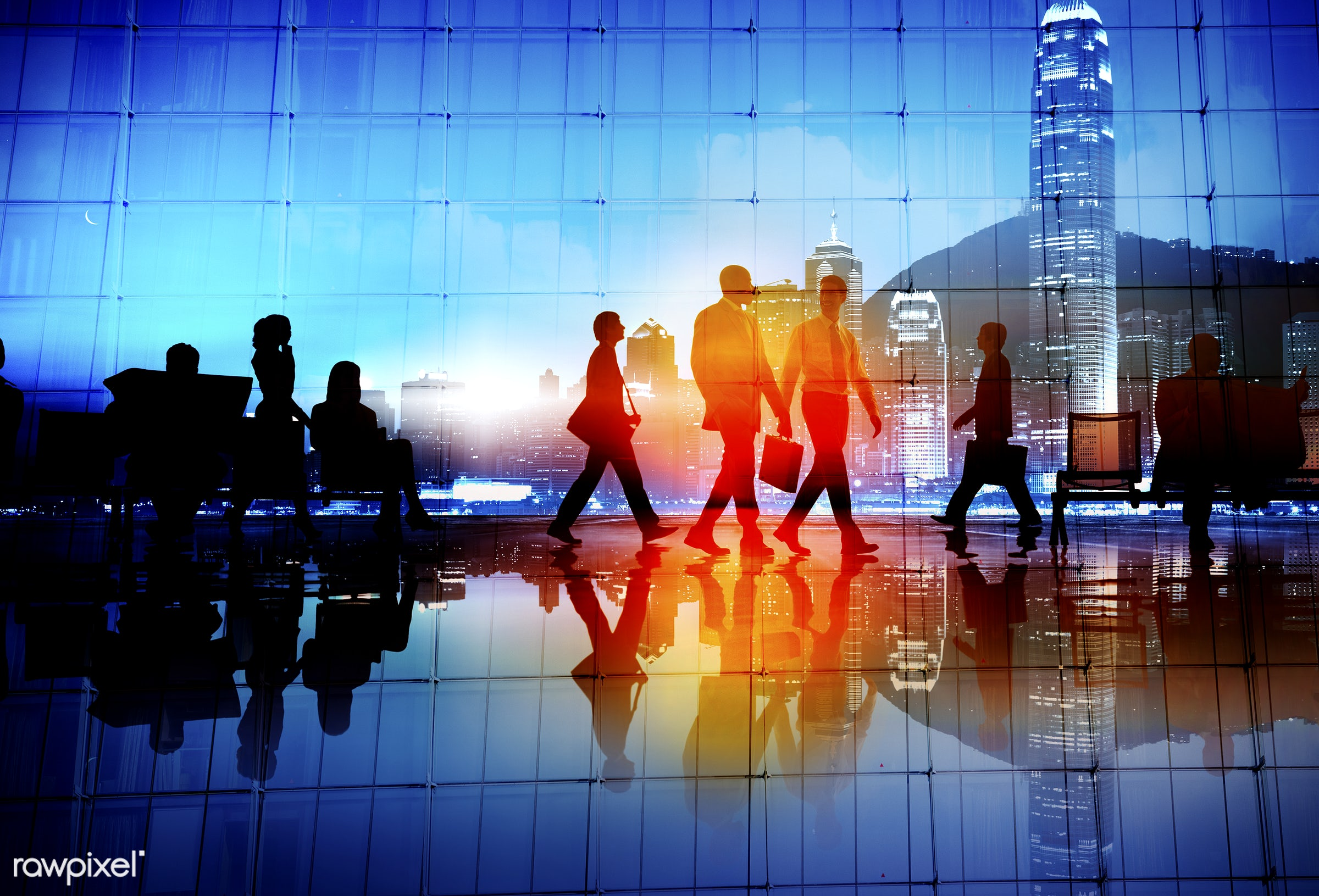 blurred motion, buildings, business, business district, business people, businessmen, businesswomen, city, city life,...