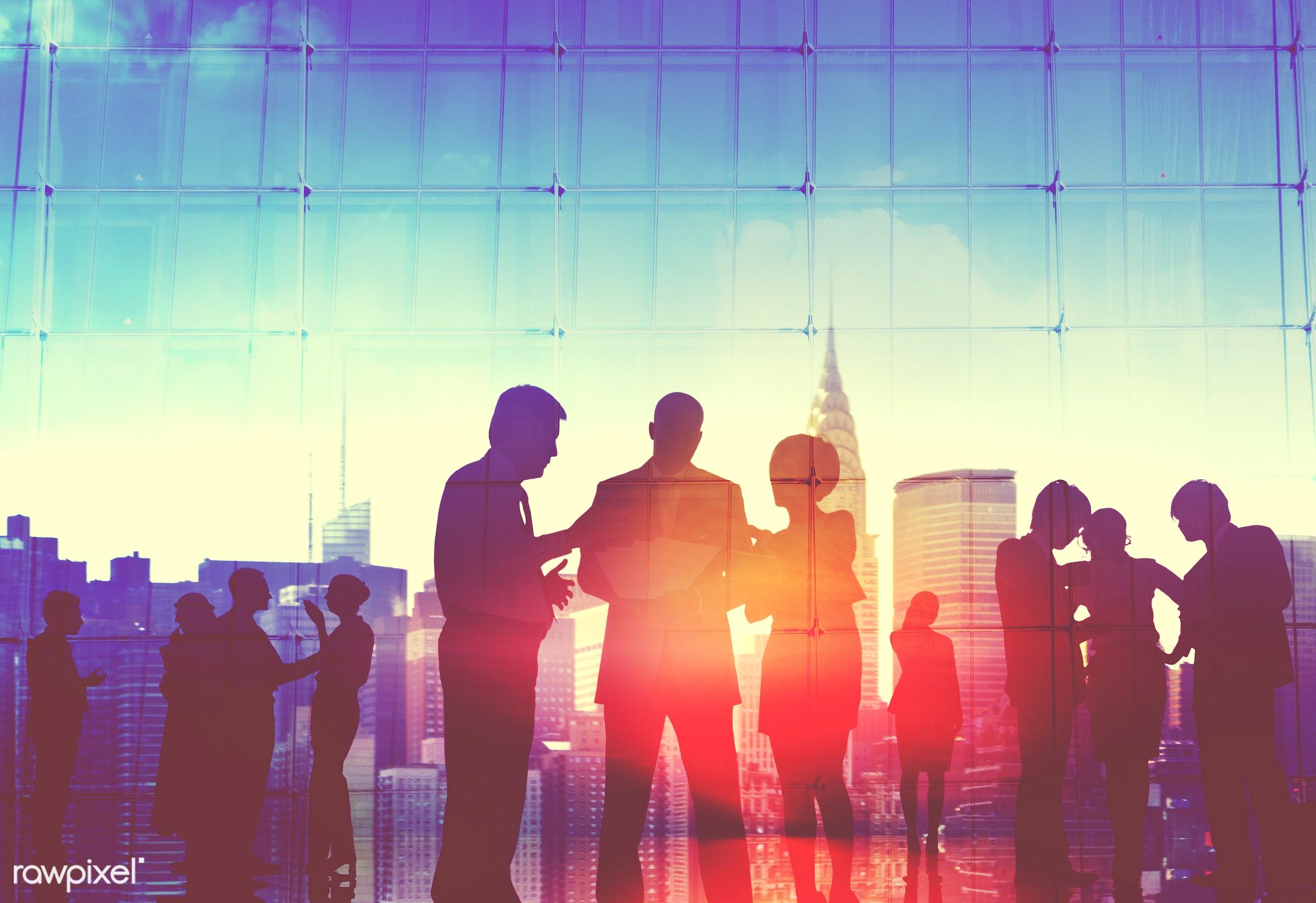 buildings, business, business district, business people, businessmen, businesswomen, city, city life, cityscape, clouds,...