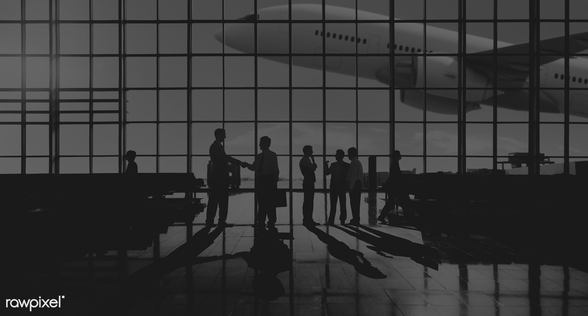 3d, agreement, aircraft, airline, airplane, airport, back lit, business people, business travel, businessmen, businesswomen...
