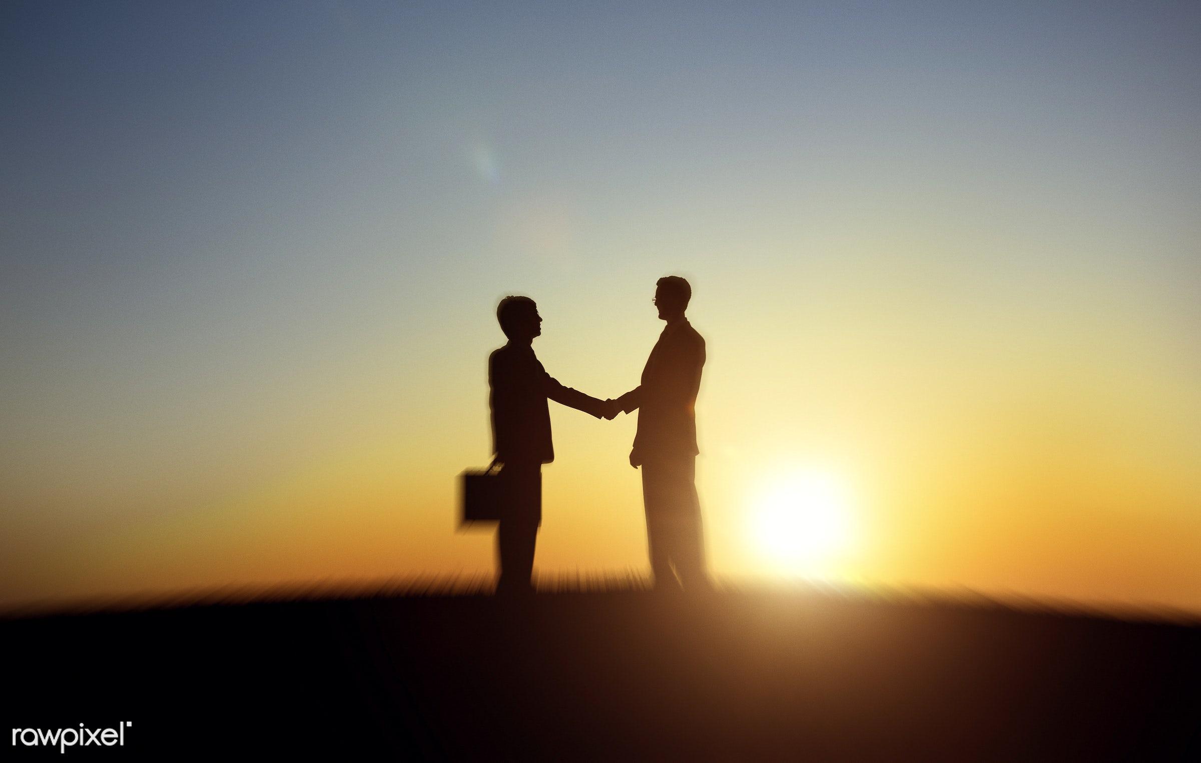 achievement, adult, advice, agreement, back lit, brainstorming, briefcase, business, business people, businessmen, colleague...