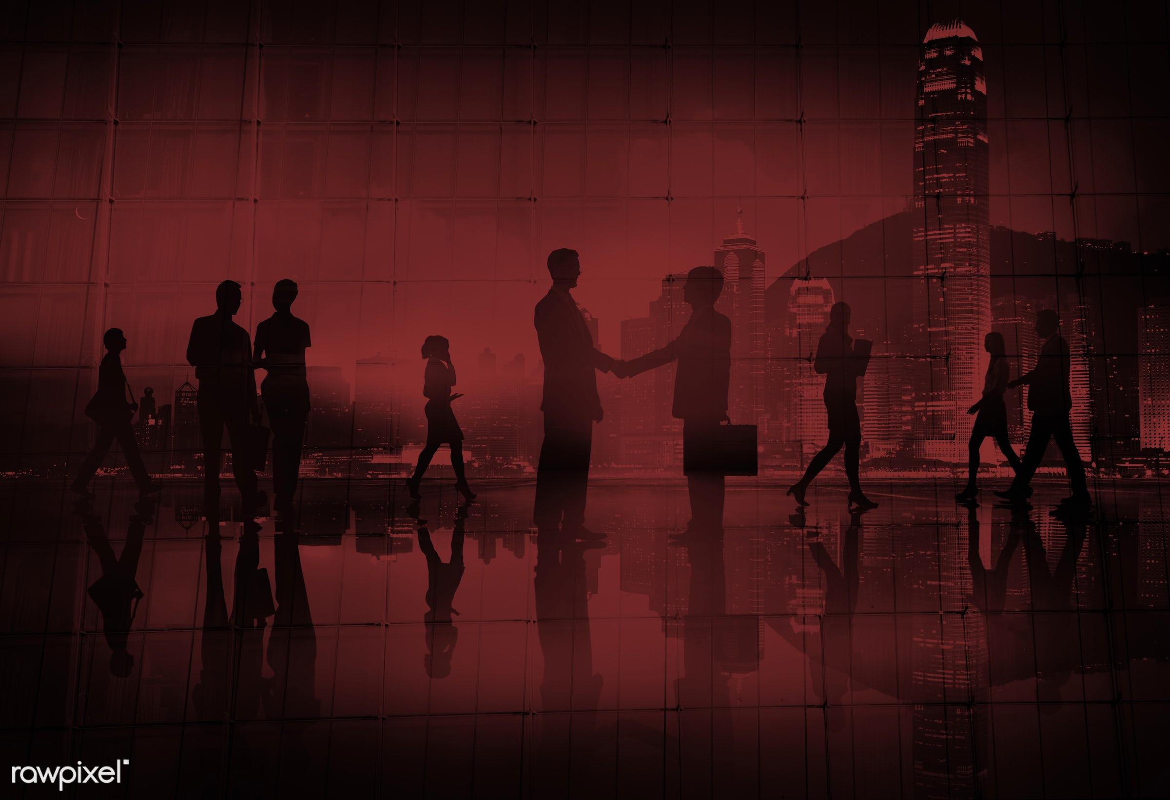 back lit, business, business people, businessmen, businesswomen, busy, cityscape, communication, commuter, contract,...