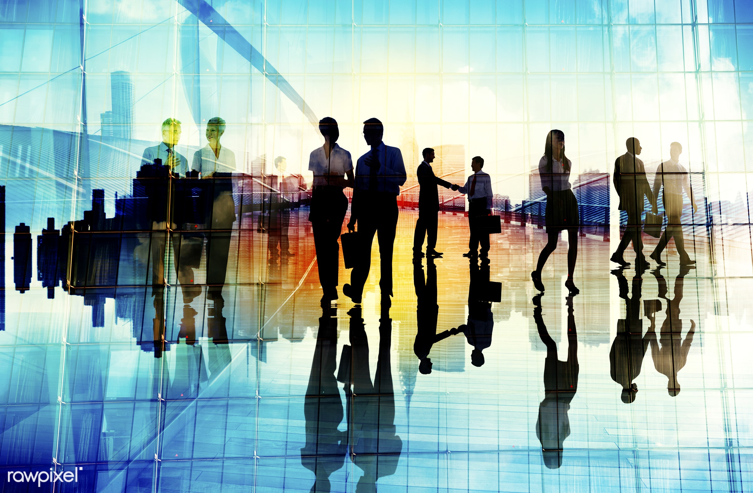 abstract, agreement, backlit, blue, business, business people, businessmen, businesswomen, cityscape, colleagues,...