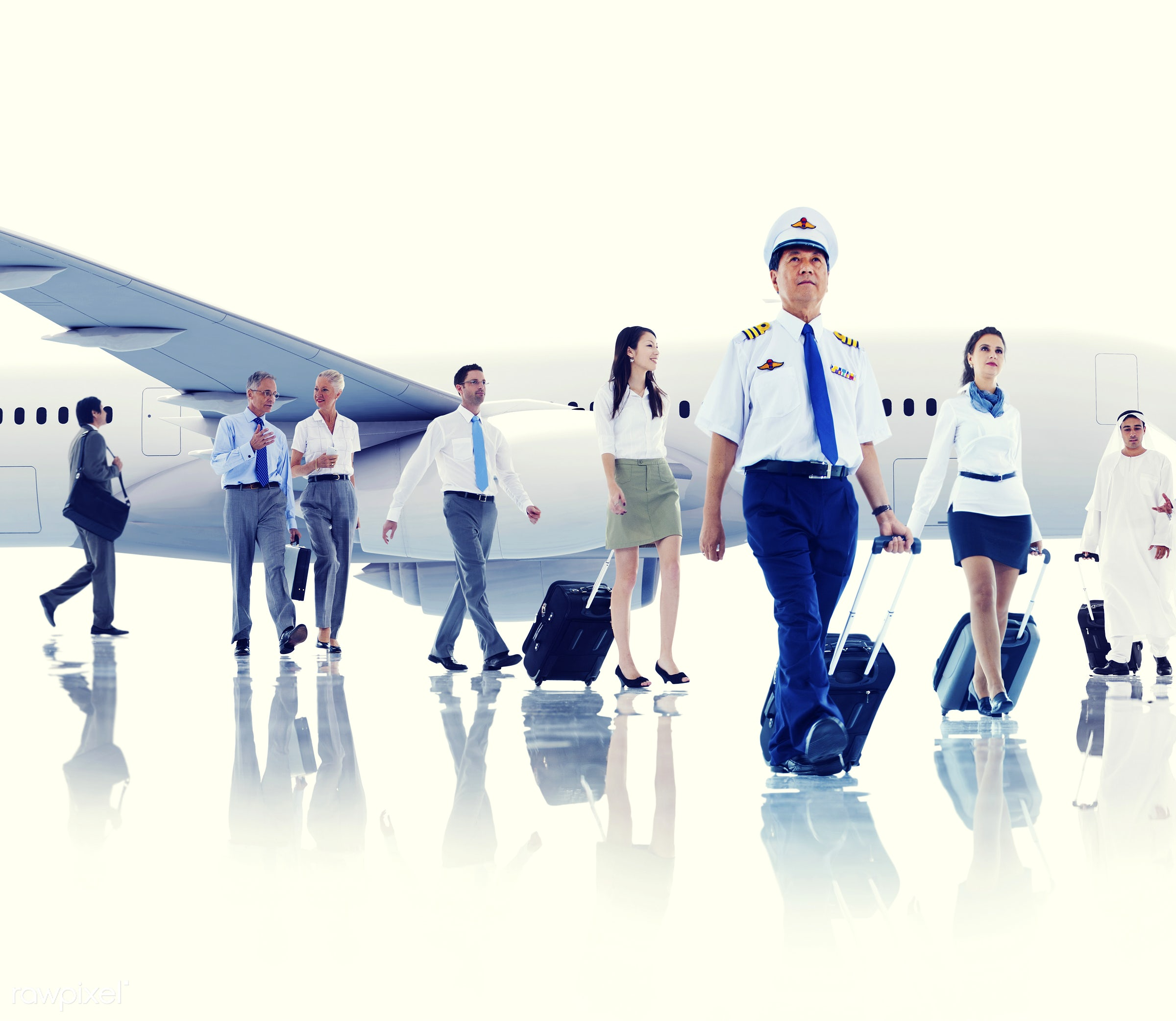 airplane, airport, asian ethnicity, business people, business travel, businessmen, businesswomen, cabin crew, cloud,...