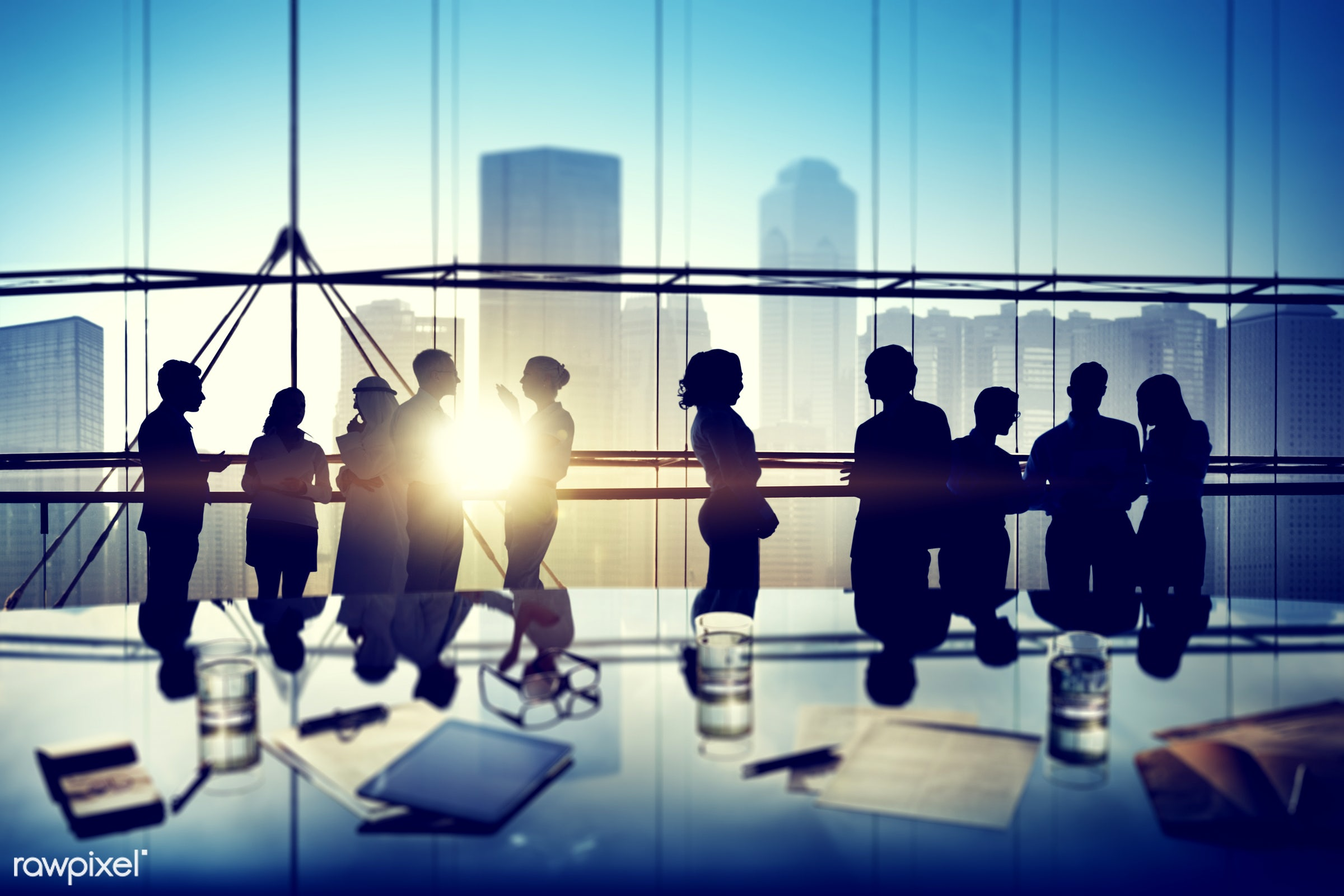 Business people in a board room meeting - administration, board room, business, business people, businessman, businesswoman...