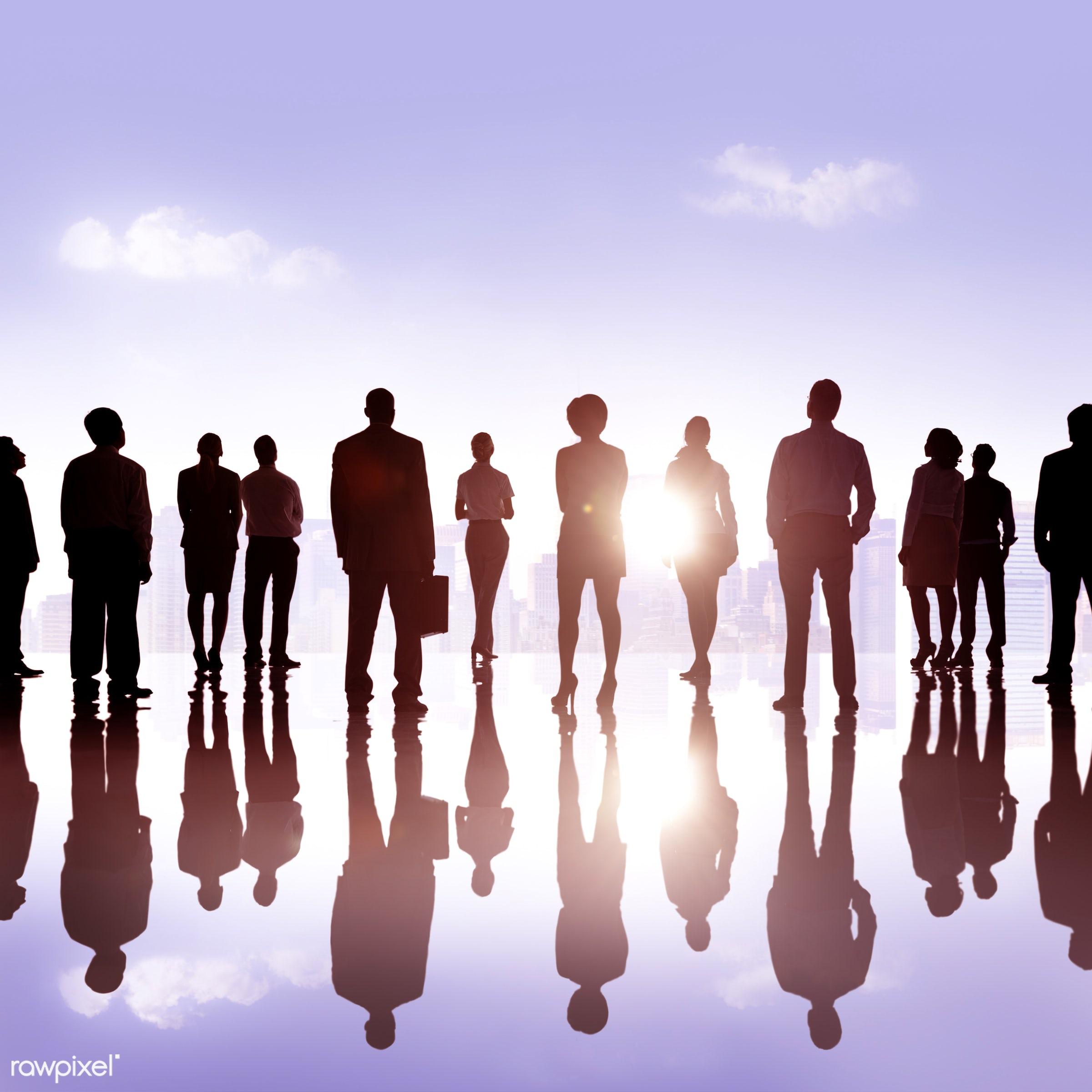 aspirations, back lit, buildings, business, businessmen, businesswomen, career, city, cityscape, colleagues, corporate,...