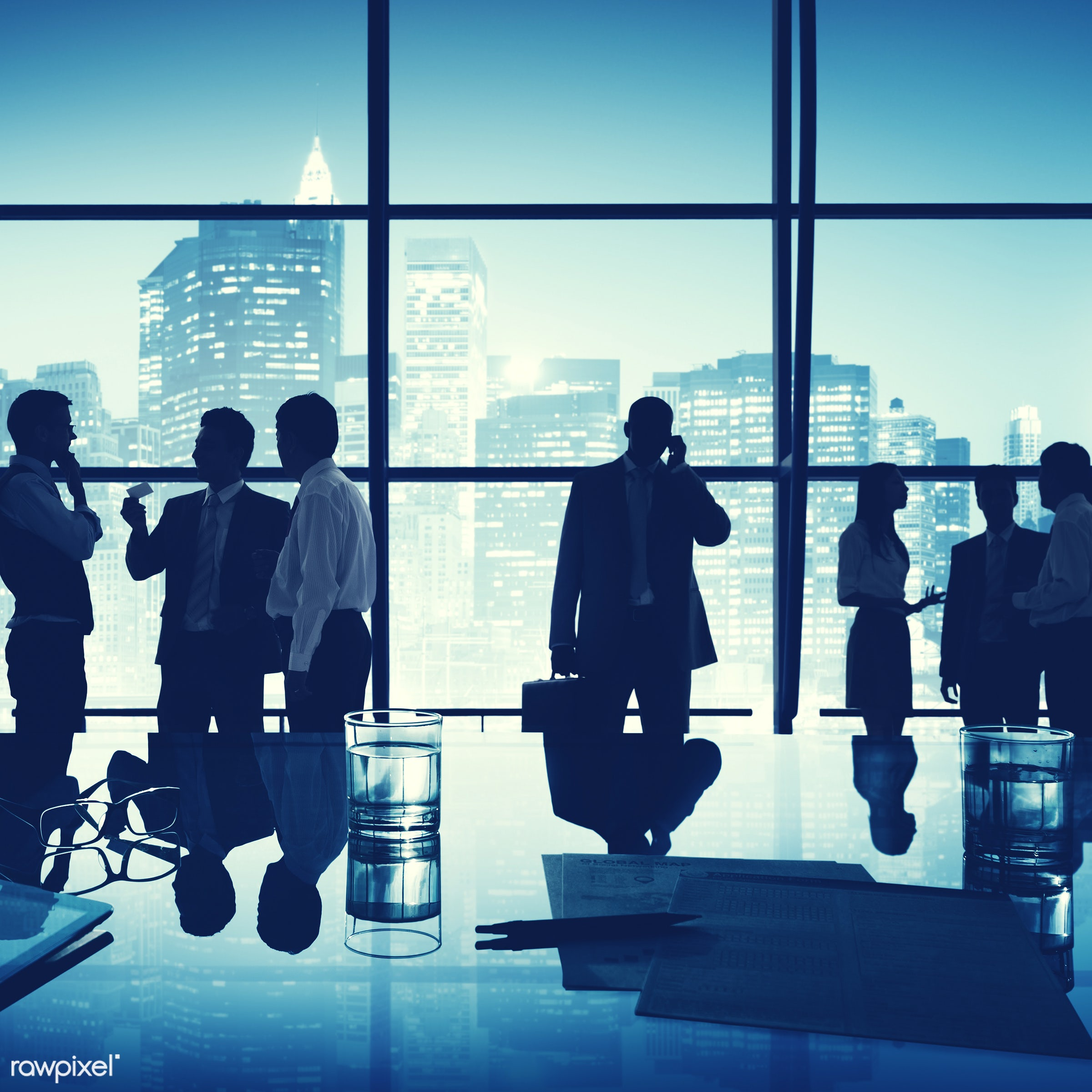 backlit, board room, brainstorming, buildings, business, businessmen, businesswomen, city, city lights, cityscape,...
