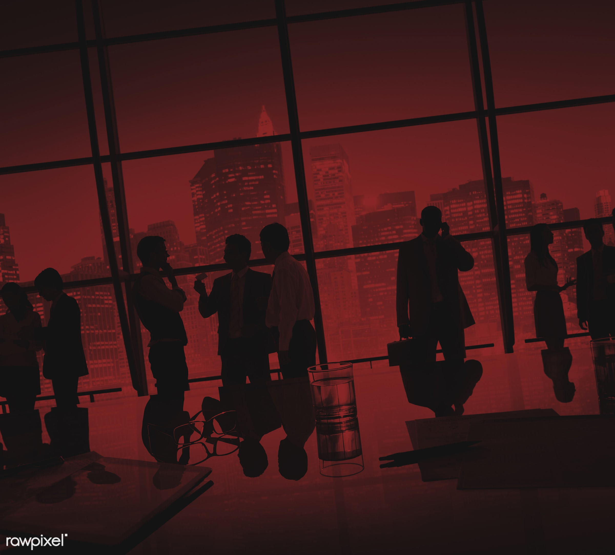 backlit, board room, brainstorming, buildings, business, businessmen, businesswomen, city, city lights, cityscape,...