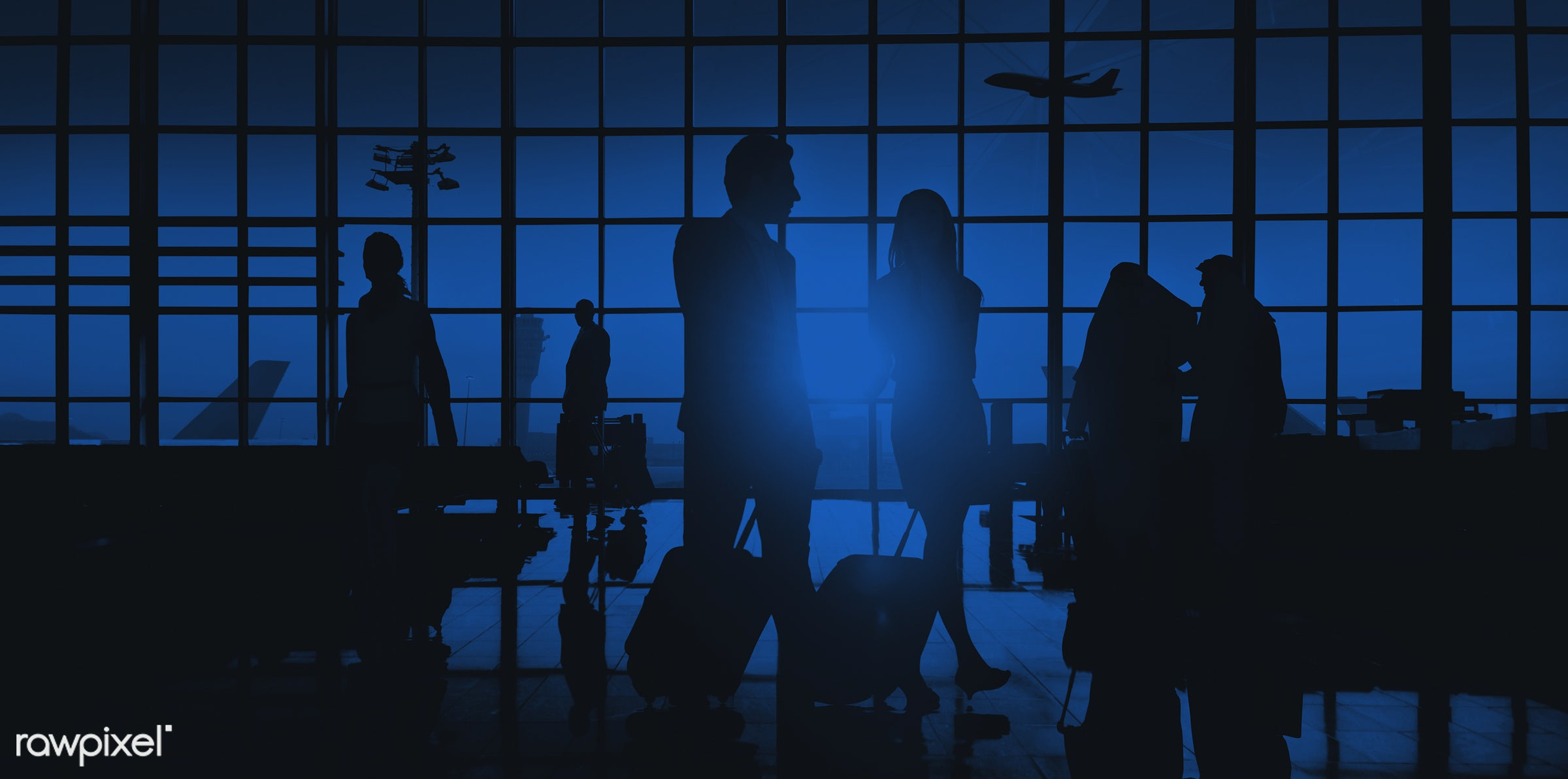 3d, airplane, airport, back lit, blue, building, business, business people, business travel, businessmen, businesswomen,...