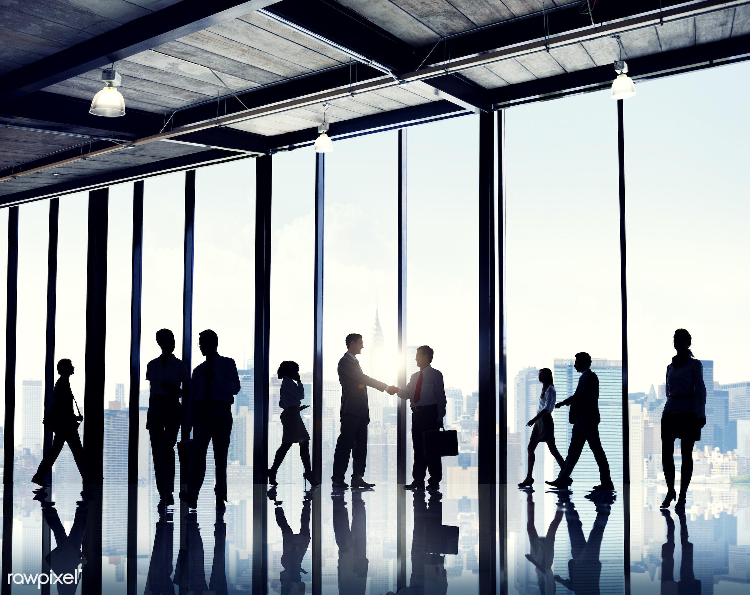 back lit, building interior, built structure, business, business men, business people, business women, city, cityscape,...