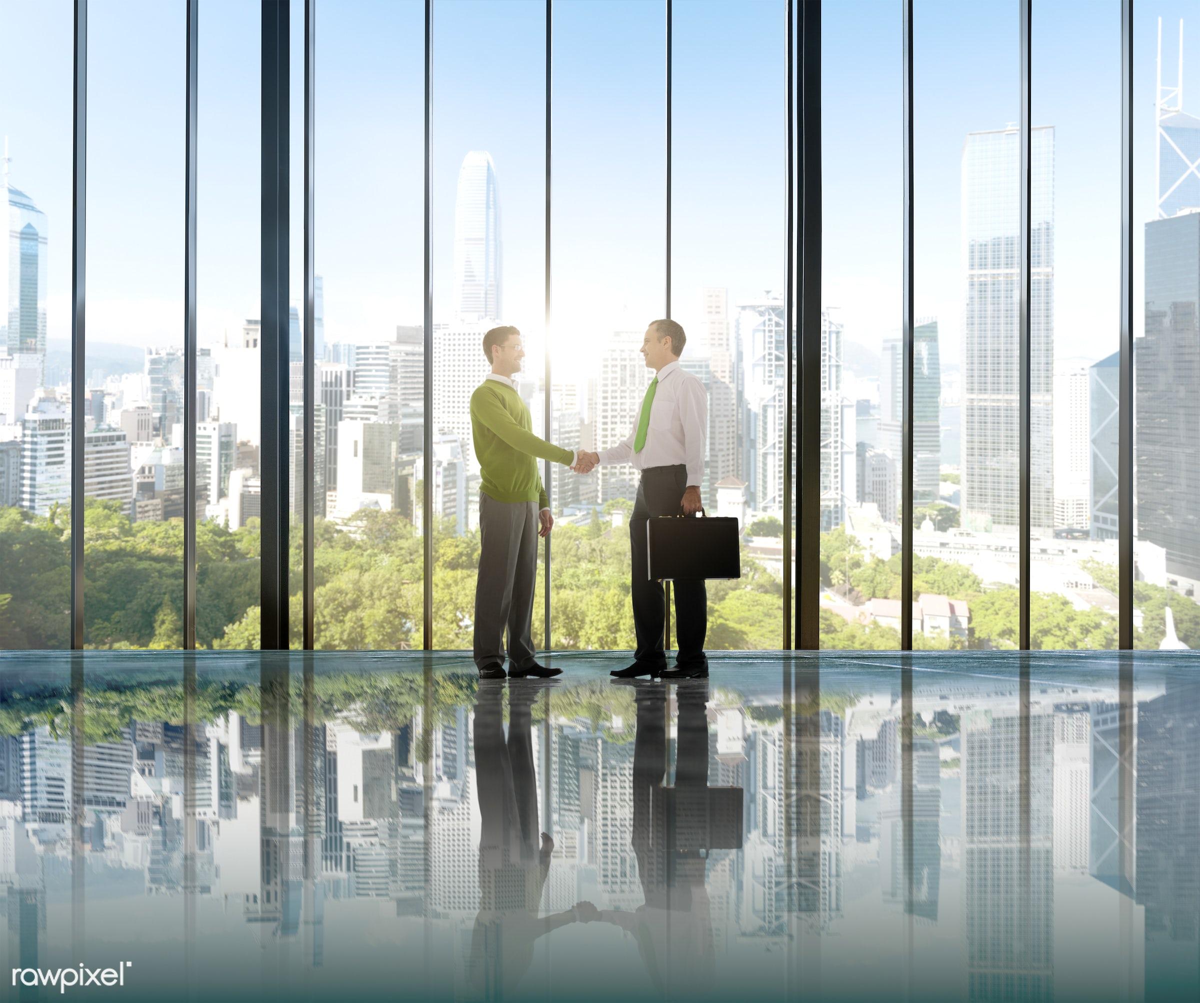 achievement, agreement, board room, building, business, business person, businessman, businessmen, city, colleagues,...