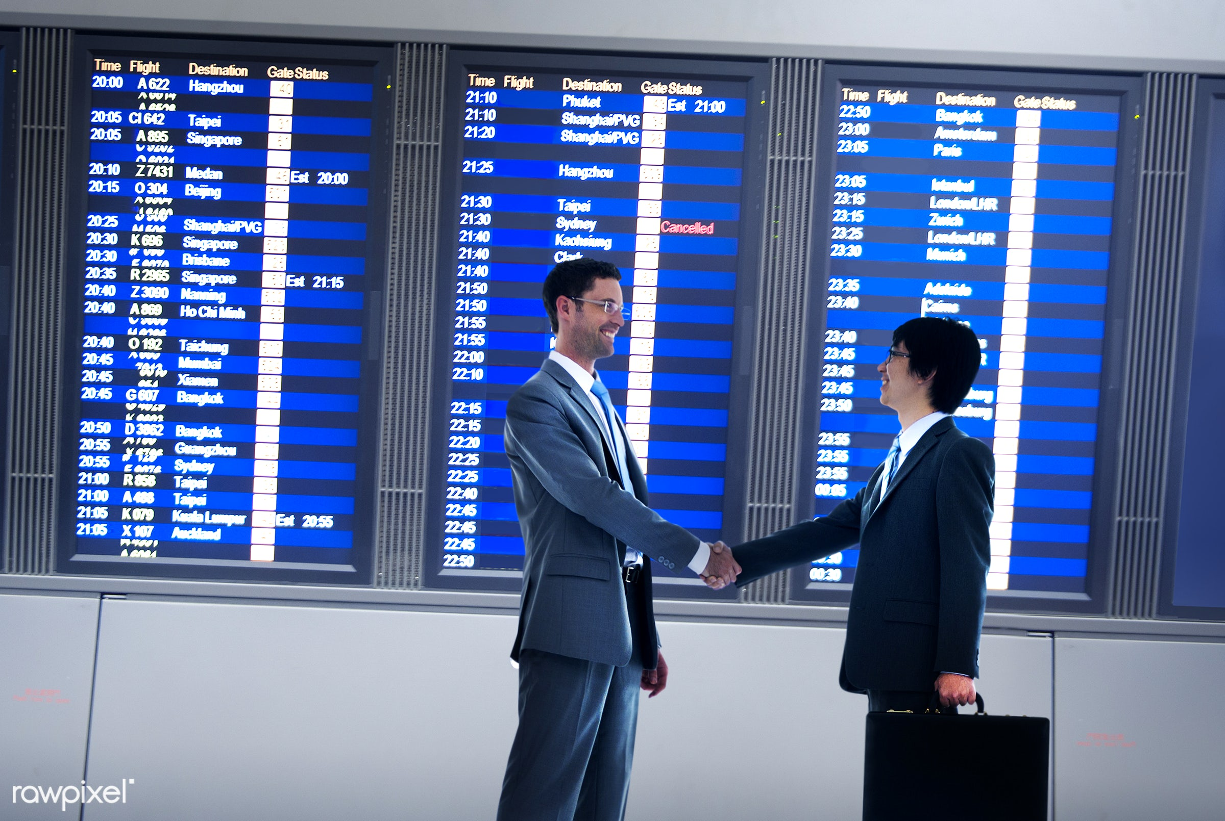 airline, airplane, airport, asian ethnicity, boarding, business, business people, business travel, businessmen,...