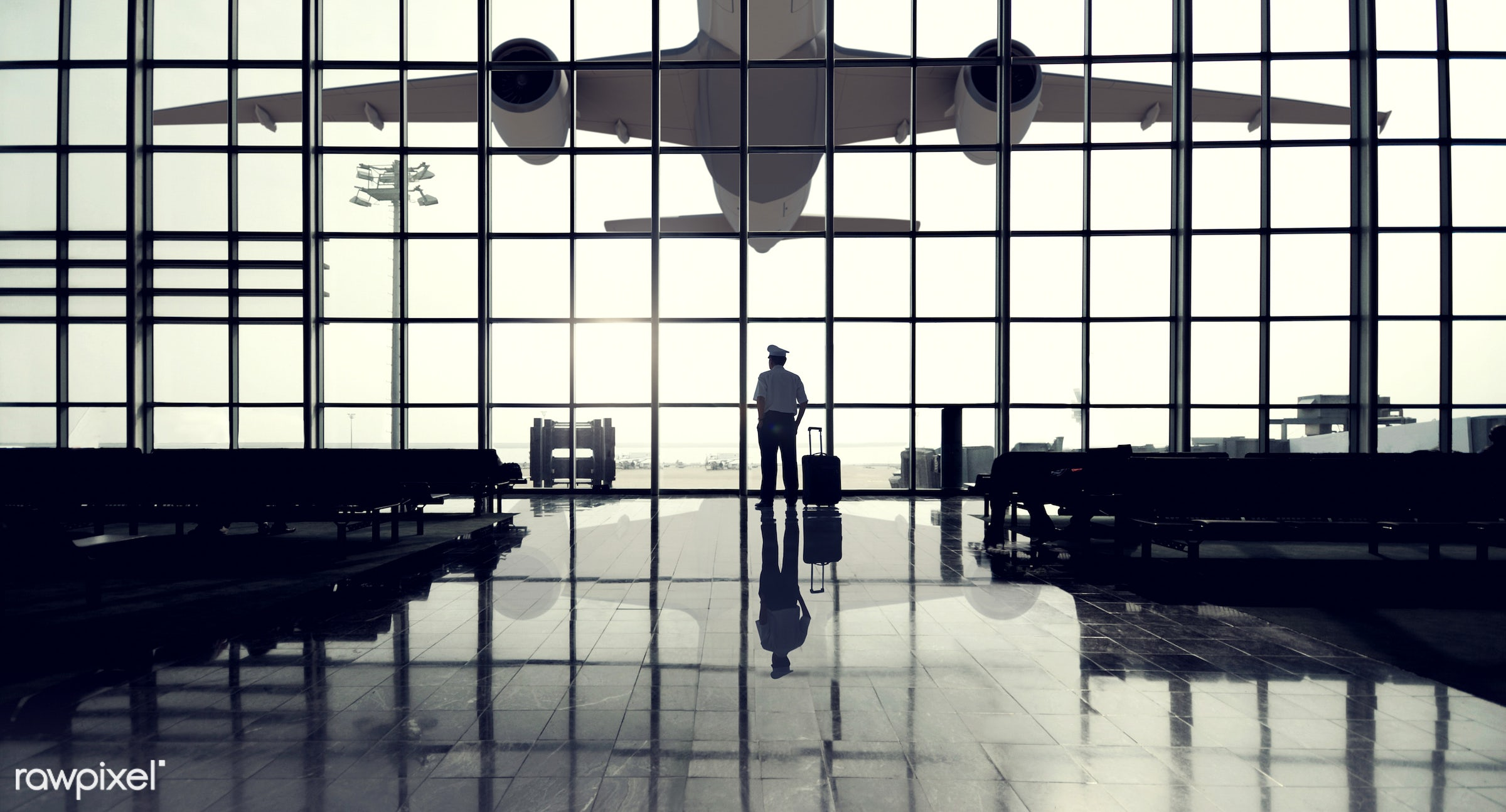 airplane, airport, airport lounge, alone, architecture, baggage, boarding gate, built structure, business, business person,...
