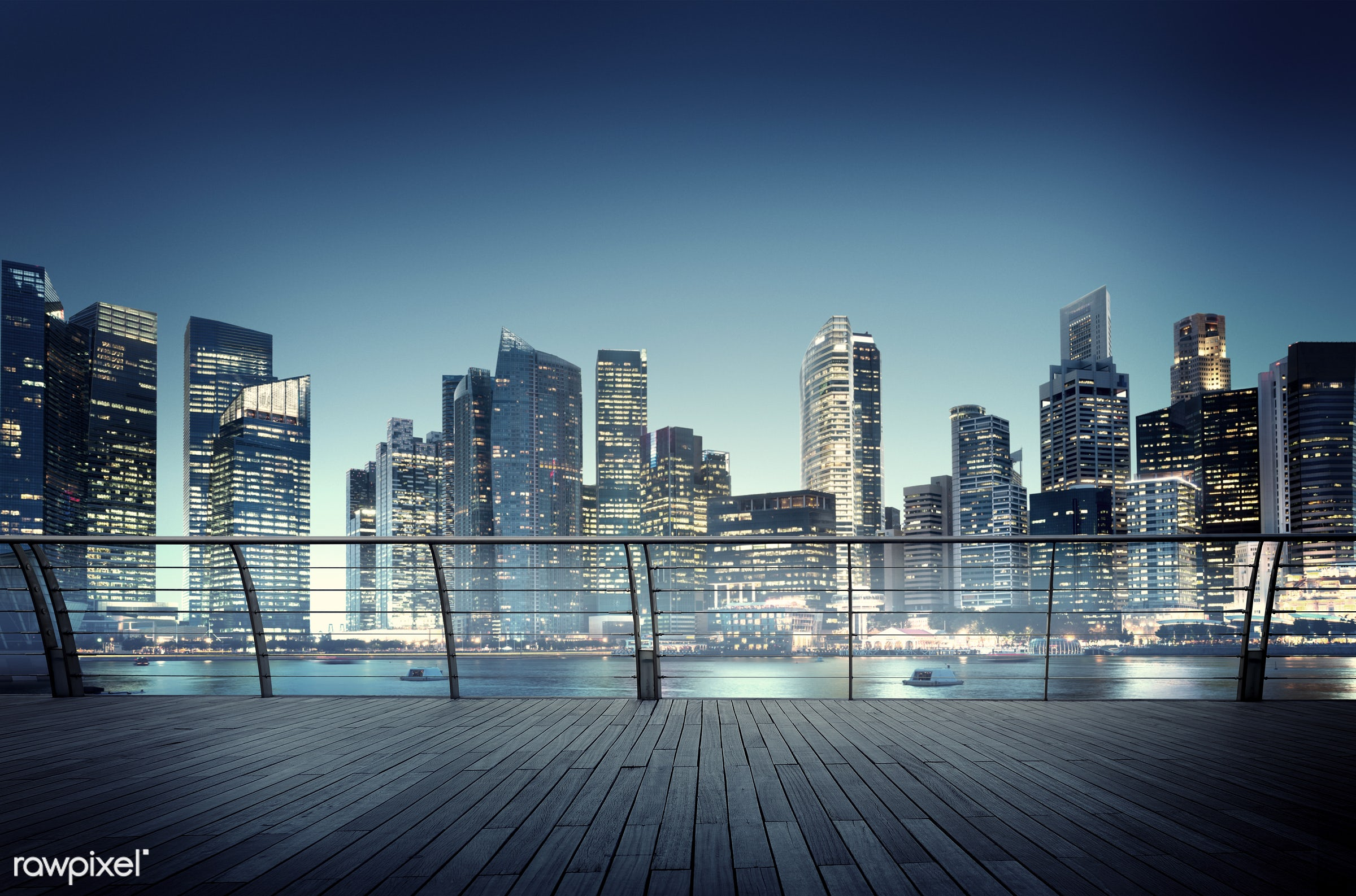 contemporary, bay view, building, city, city lights, cityscape, modern, night, nightlife, office building, outdoors, scenic...