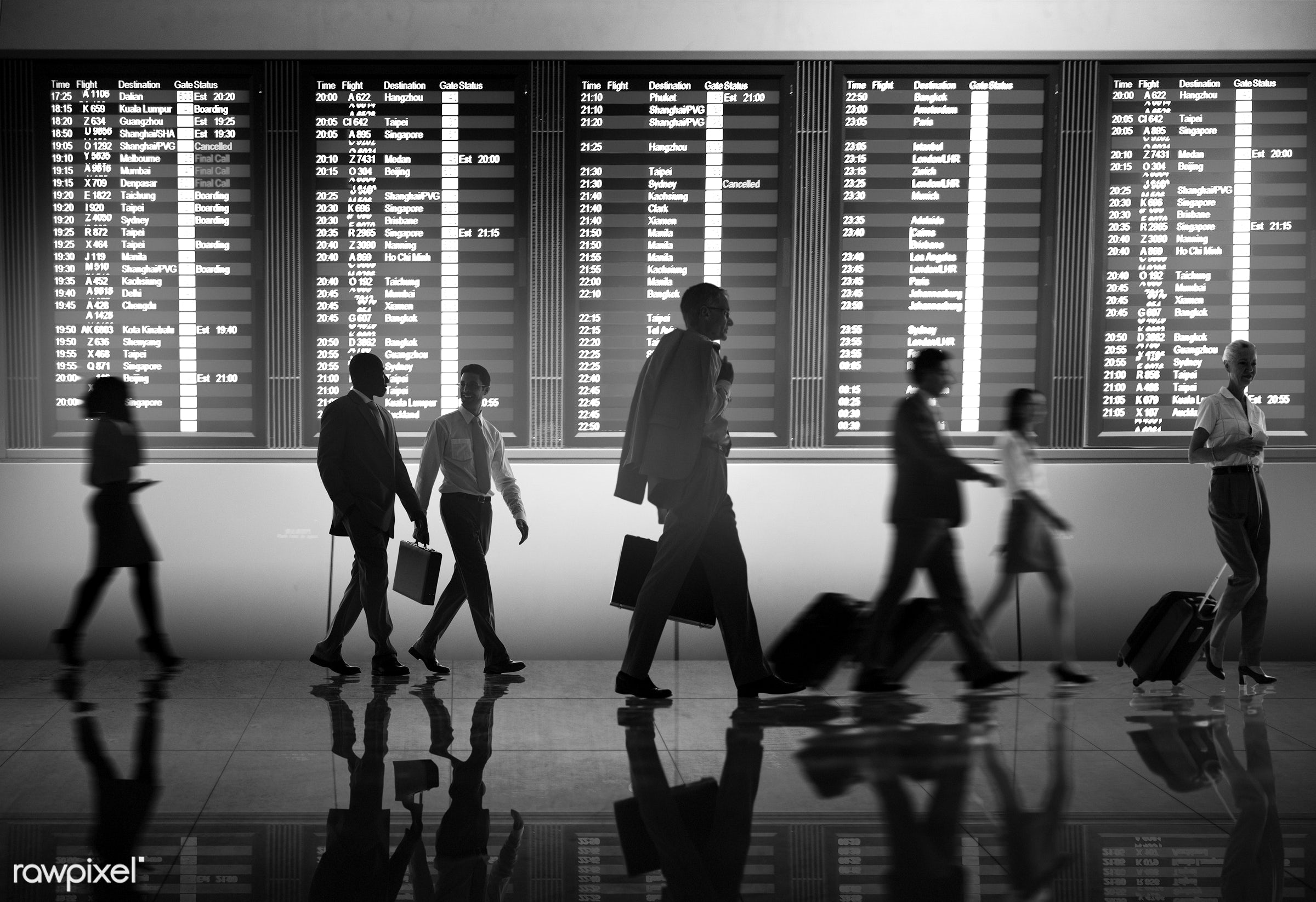airline, airport, arrival, billboard, board, boarding, business, business people, business team, business travel, business...
