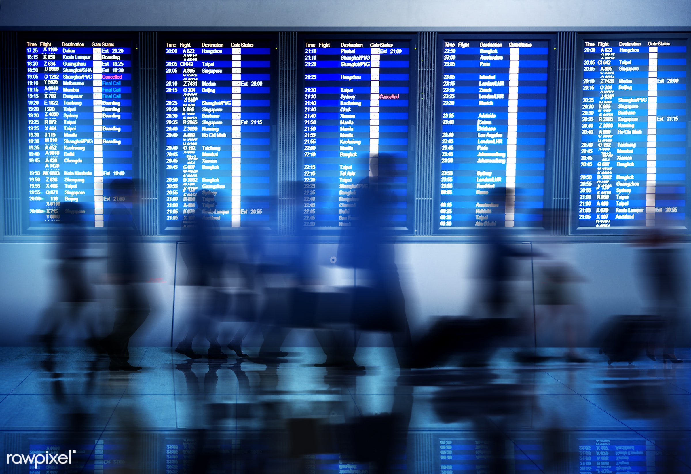 airline, airport, arrival, billboard, blurred motion, board, boarding, business, business people, business travel, business...