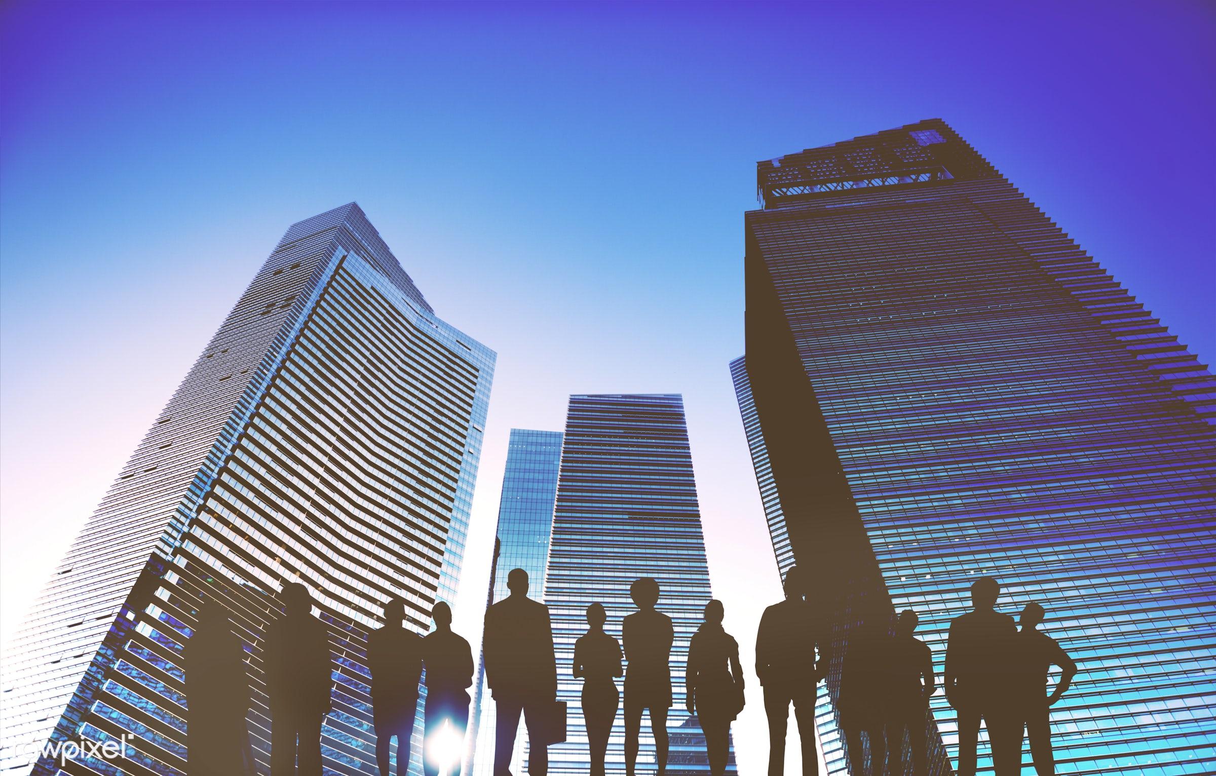Dusk, abstract, achievement, aspiration, buildings, business, businessmen, businesswomen, city, city life, cityscape,...
