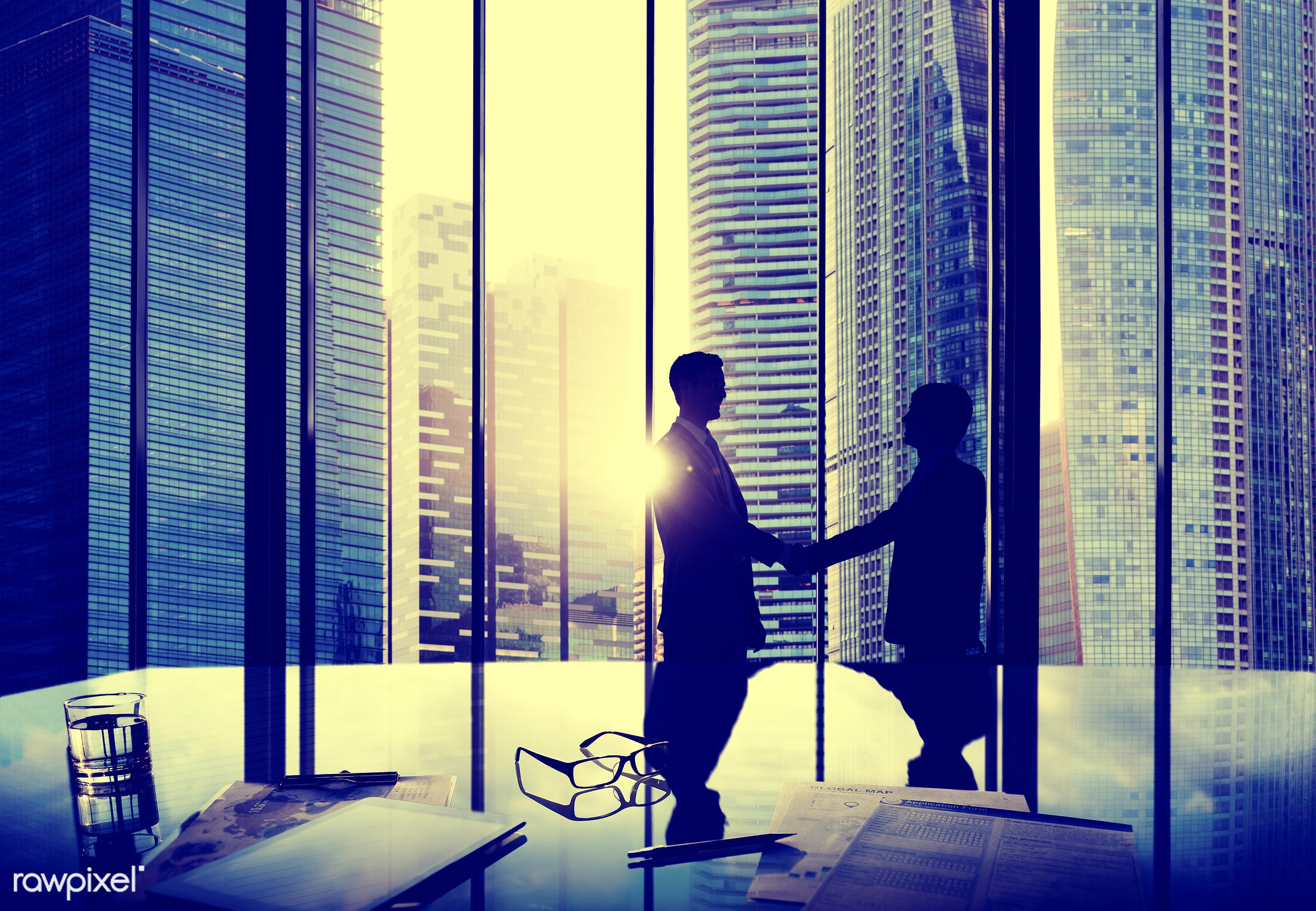 agreement, back lit, building, business, business people, businessmen, city, cityscape, colleague, communication, conference...