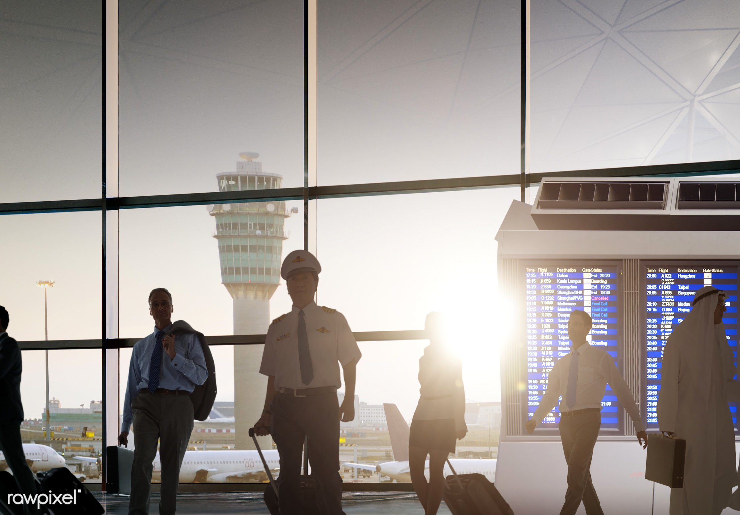 airline, airport, arrival, billboard, board, boarding, business, business people, business travel, business trip,...