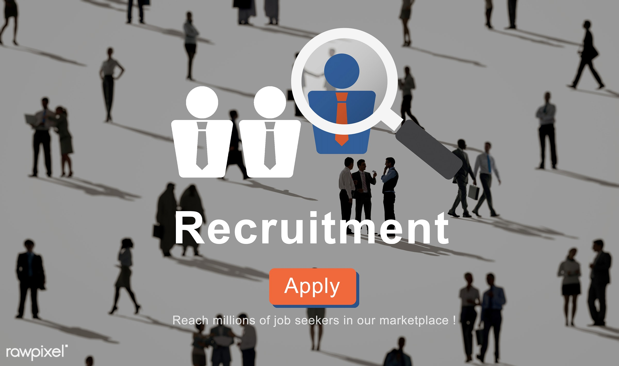 Business recruitment - apply, business, business people, communication, community, crowd, discussion, employee, employment,...