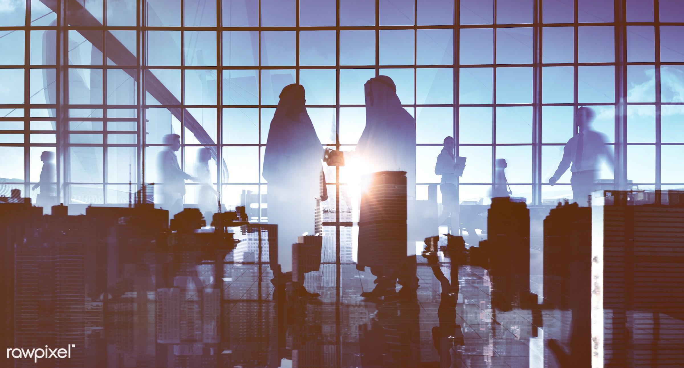 agreement, backlit, business, business people, businessmen, businesswomen, city, cityscape, colleagues, communication,...