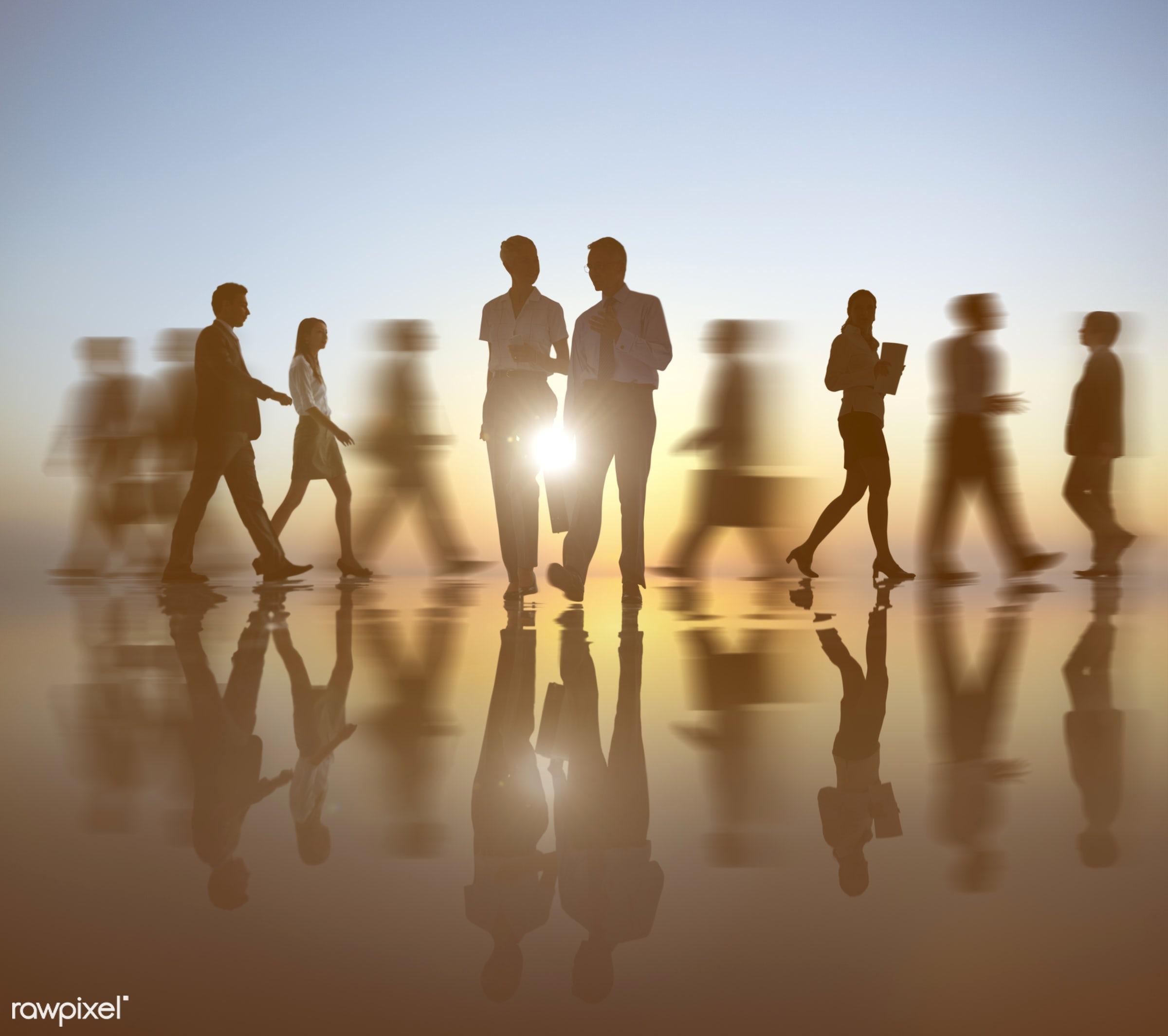 action, adult, associate, back lit, blurred, blurred motion, business, businessman, businesswoman, busy, caucasian,...