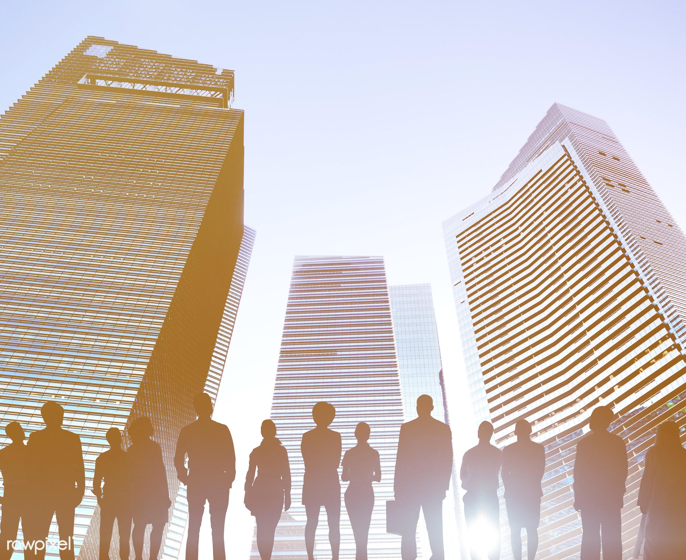 achievement, aspirations, back lit, building, business, business people, businessmen, businesswomen, city, city life,...