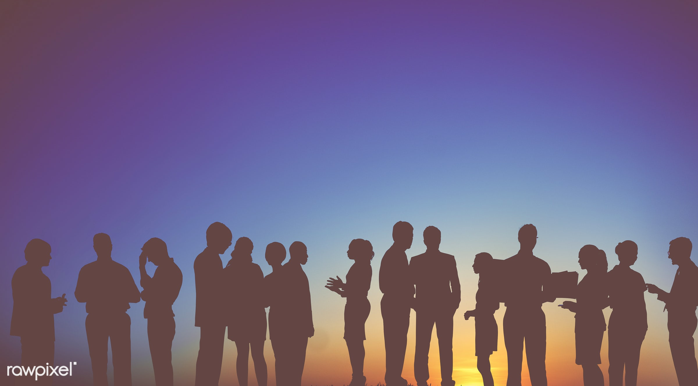 Dusk, back lit, blank, business, businessmen, businesswomen, career, colleagues, communication, connection, cooperation,...