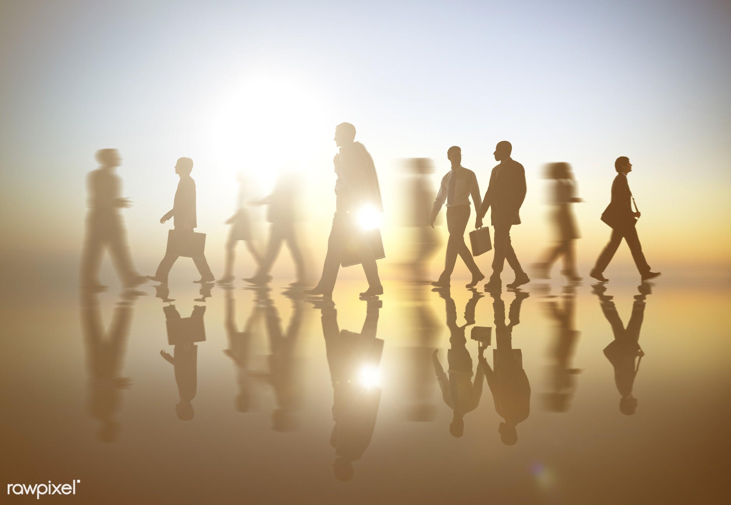action, adult, associate, back lit, blurred, blurred motion, business, businessmen, businesswomen, busy, colleagues,...