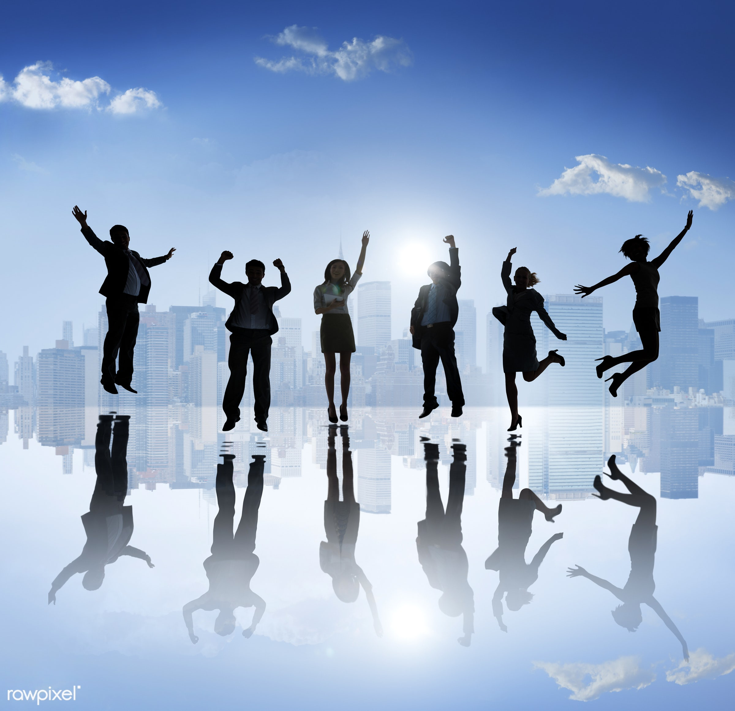 arms outstretched, arms raised, back lit, building, business, business people, businessman, businesswoman, career,...